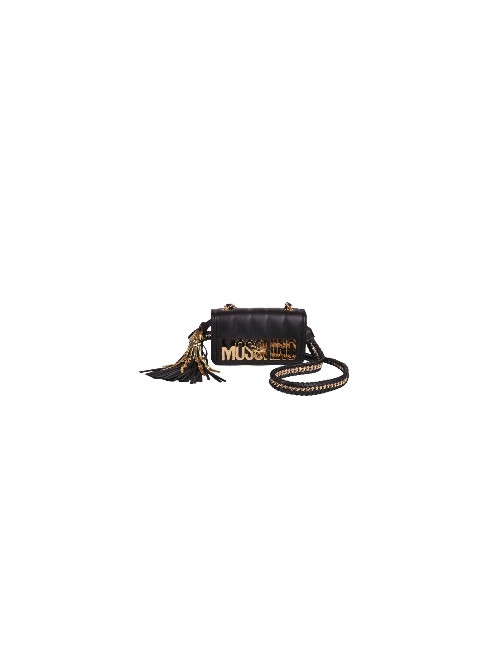Moschino Logo Plaque Shoulder Bag