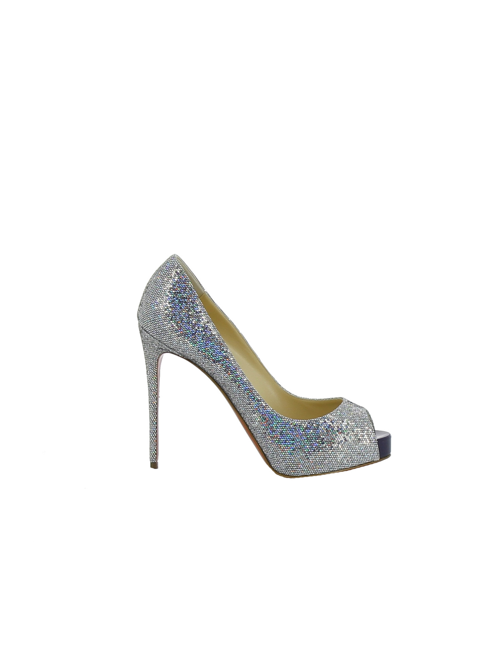 christian louboutin female christian louboutin new very prive 120 glitter platform pumps