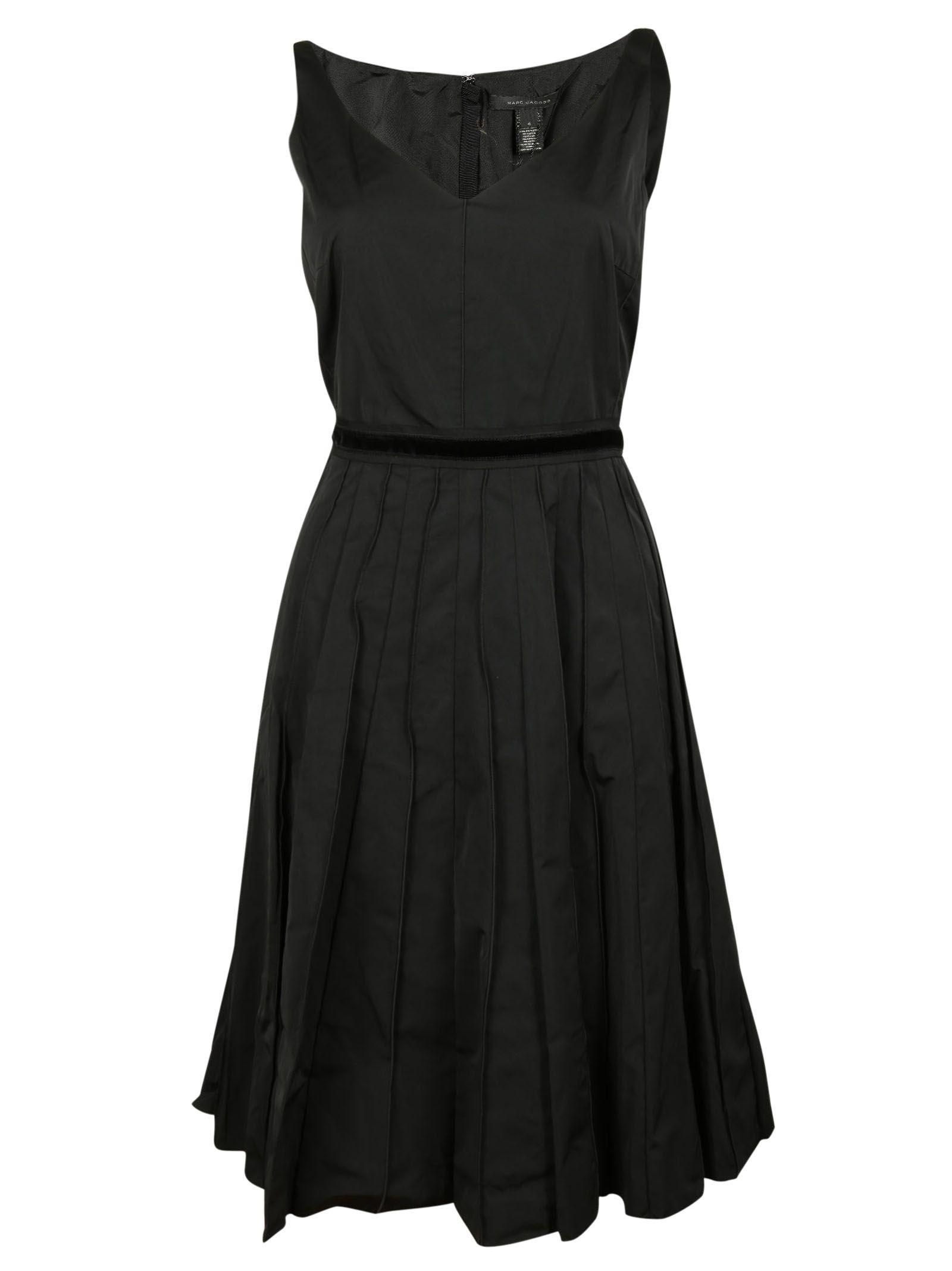 marc jacobs female 188971 black sleeveless dress