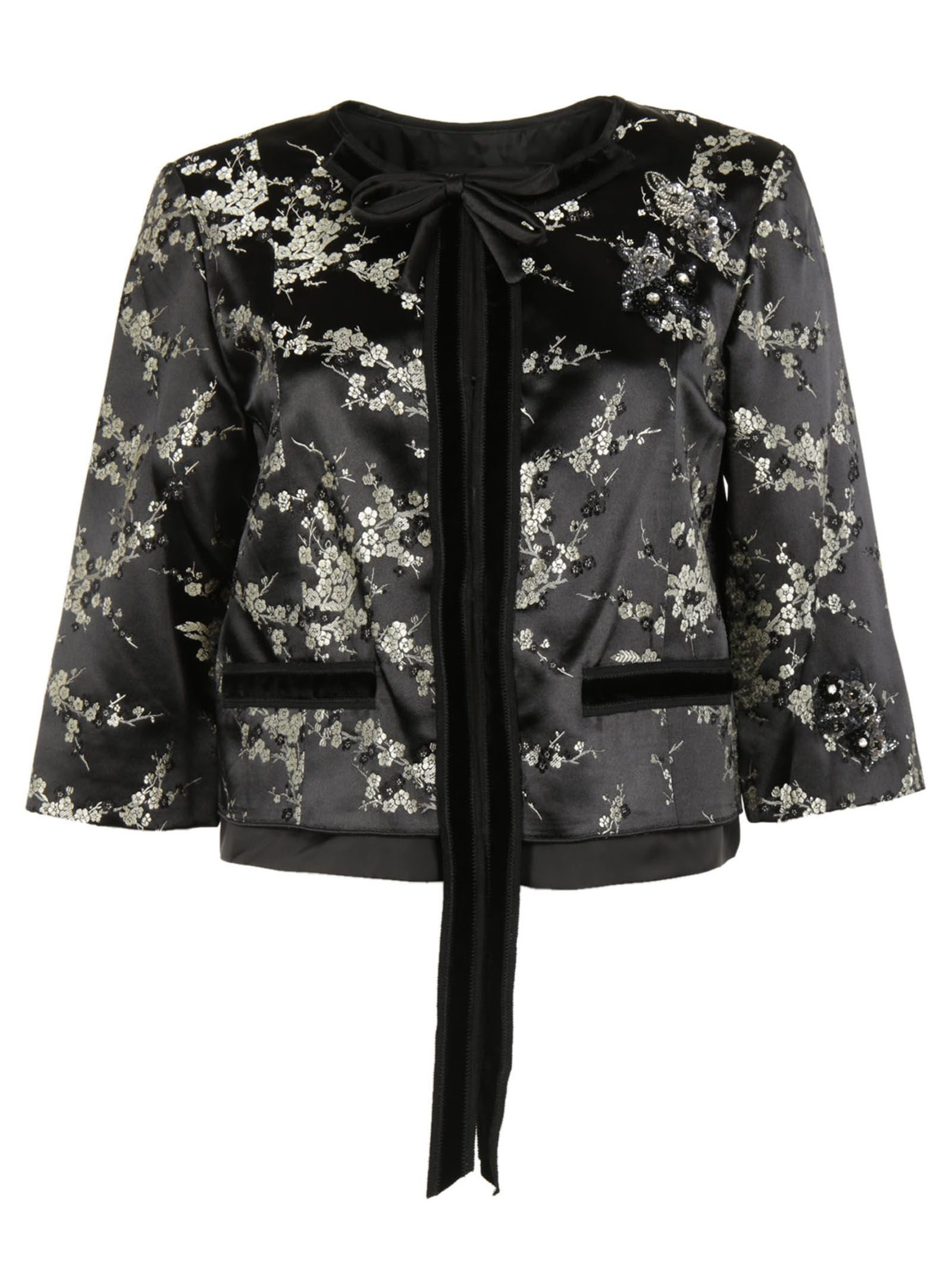 marc jacobs female 220183 gold multi cropped jacket
