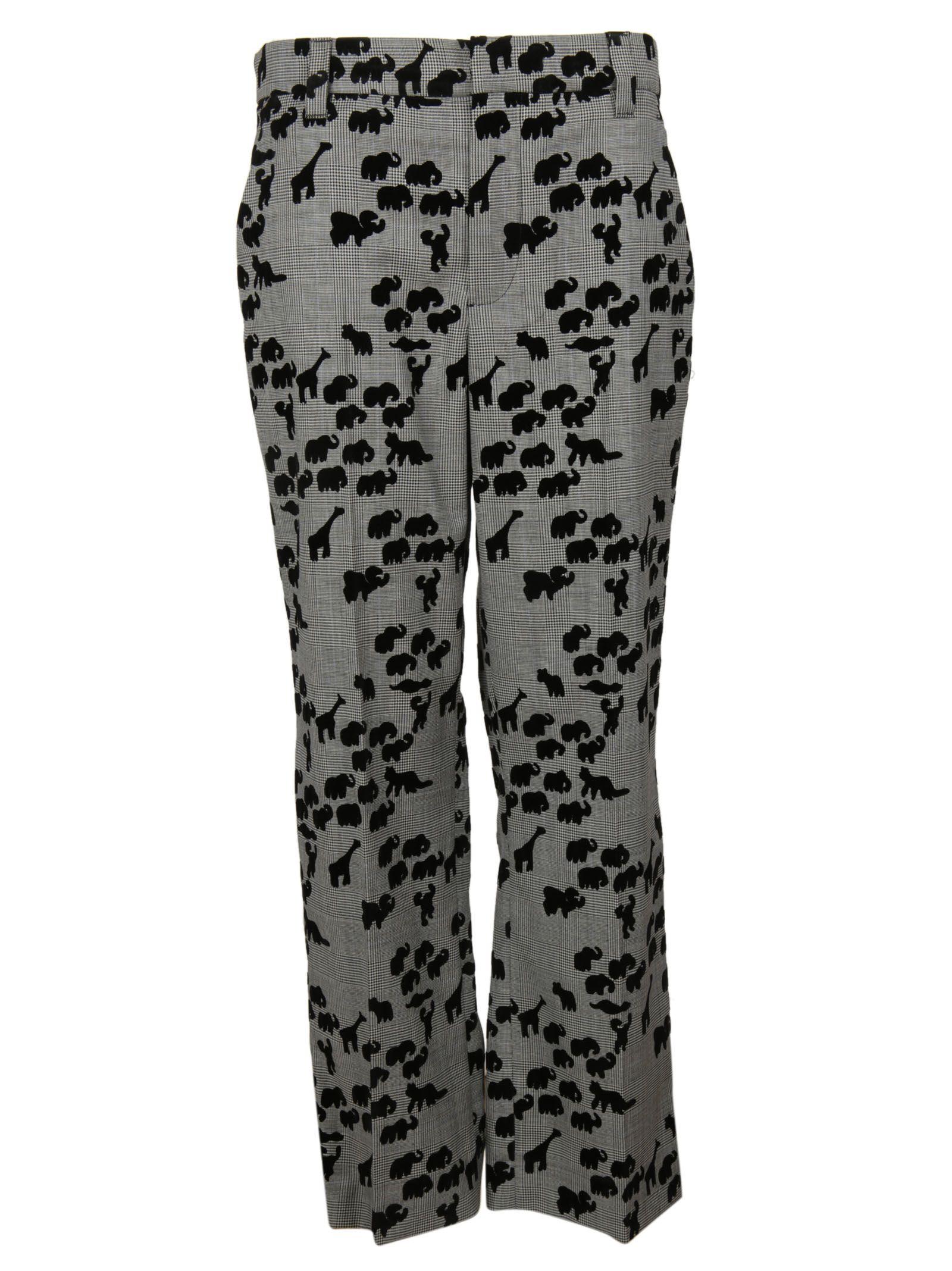 marc jacobs female  plaid multi bowie trousers