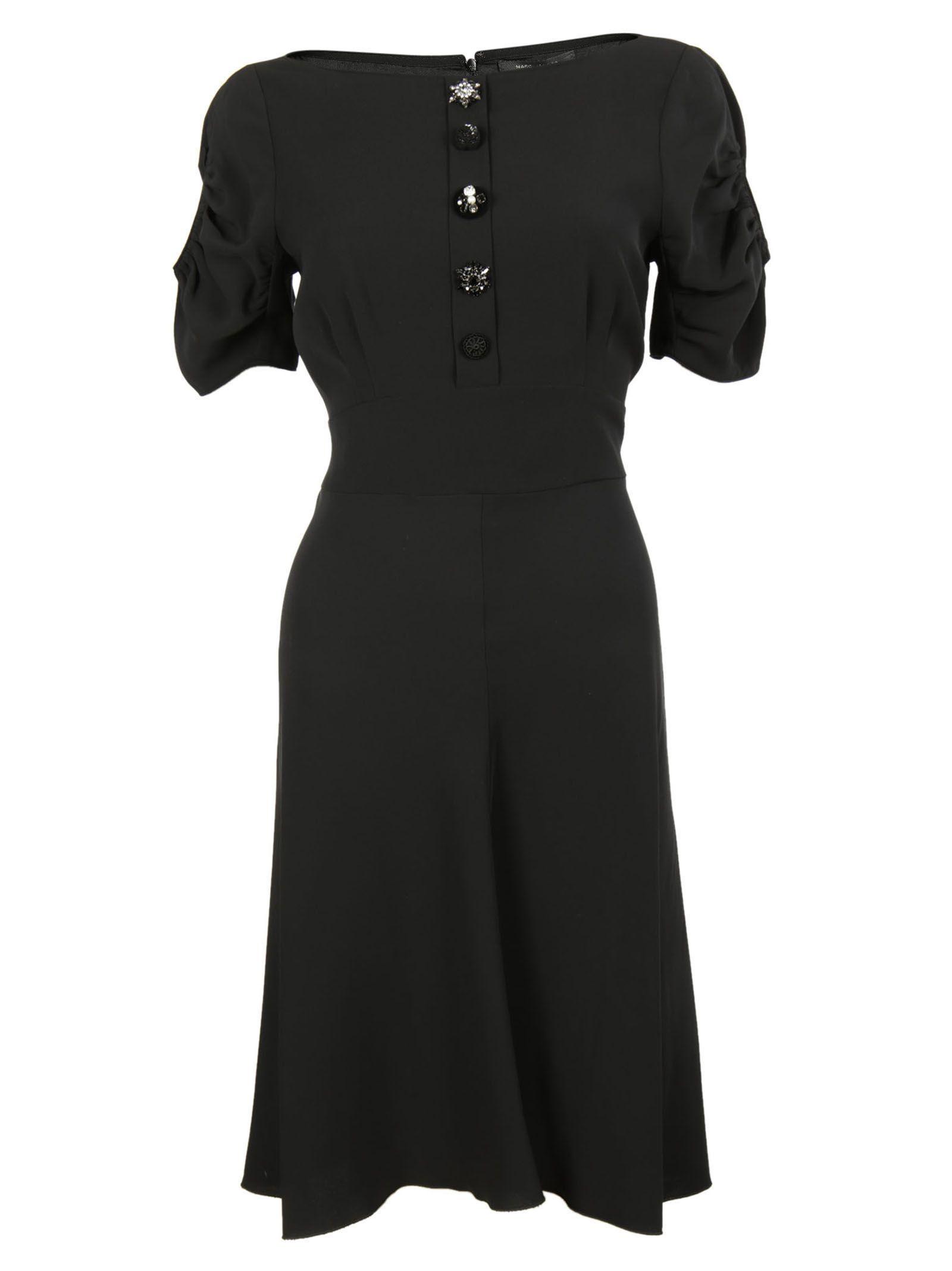 marc jacobs female 188971 black jewel button dress