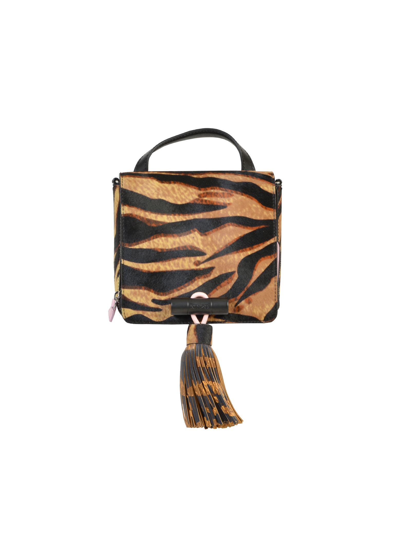 Sailor bag in calfskin leather - animalier pattern - one handle - detachable strap - snap button fastening - ziped pocket - measurements: 18x16x8 cm, strap 52 cm