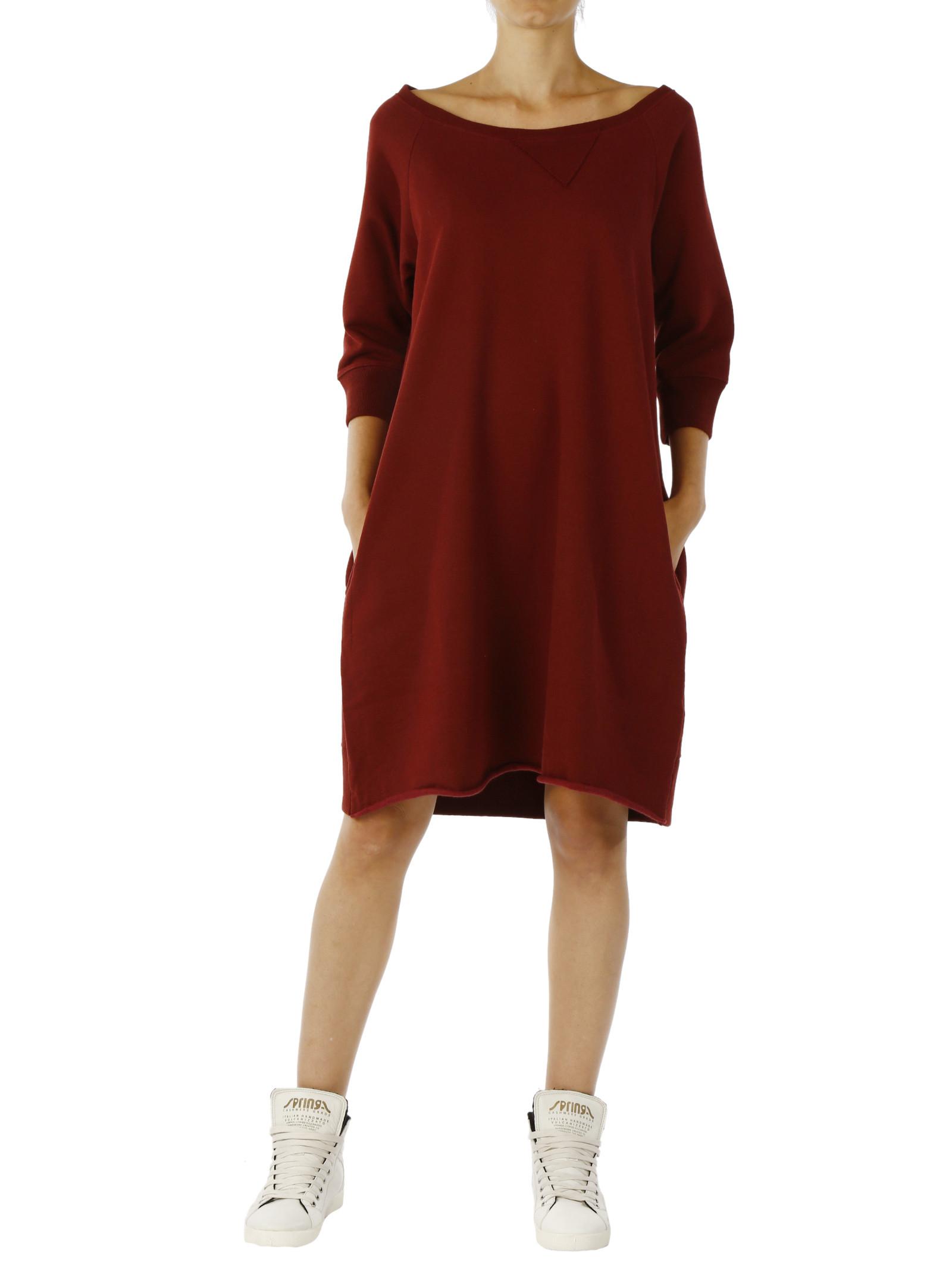 Altalana 100% Warm Cotton Sweatshirt Trapeze Dress