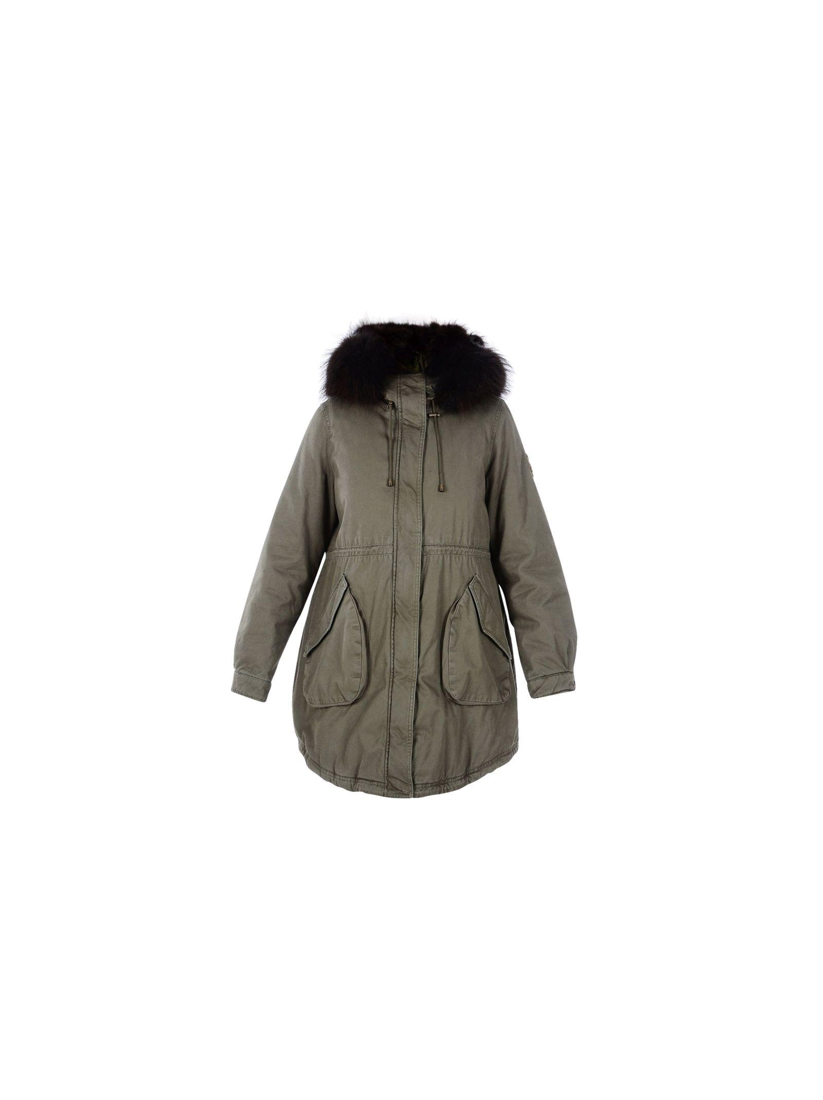 Alessandra Chamonix Fur Cotton Parka Coat