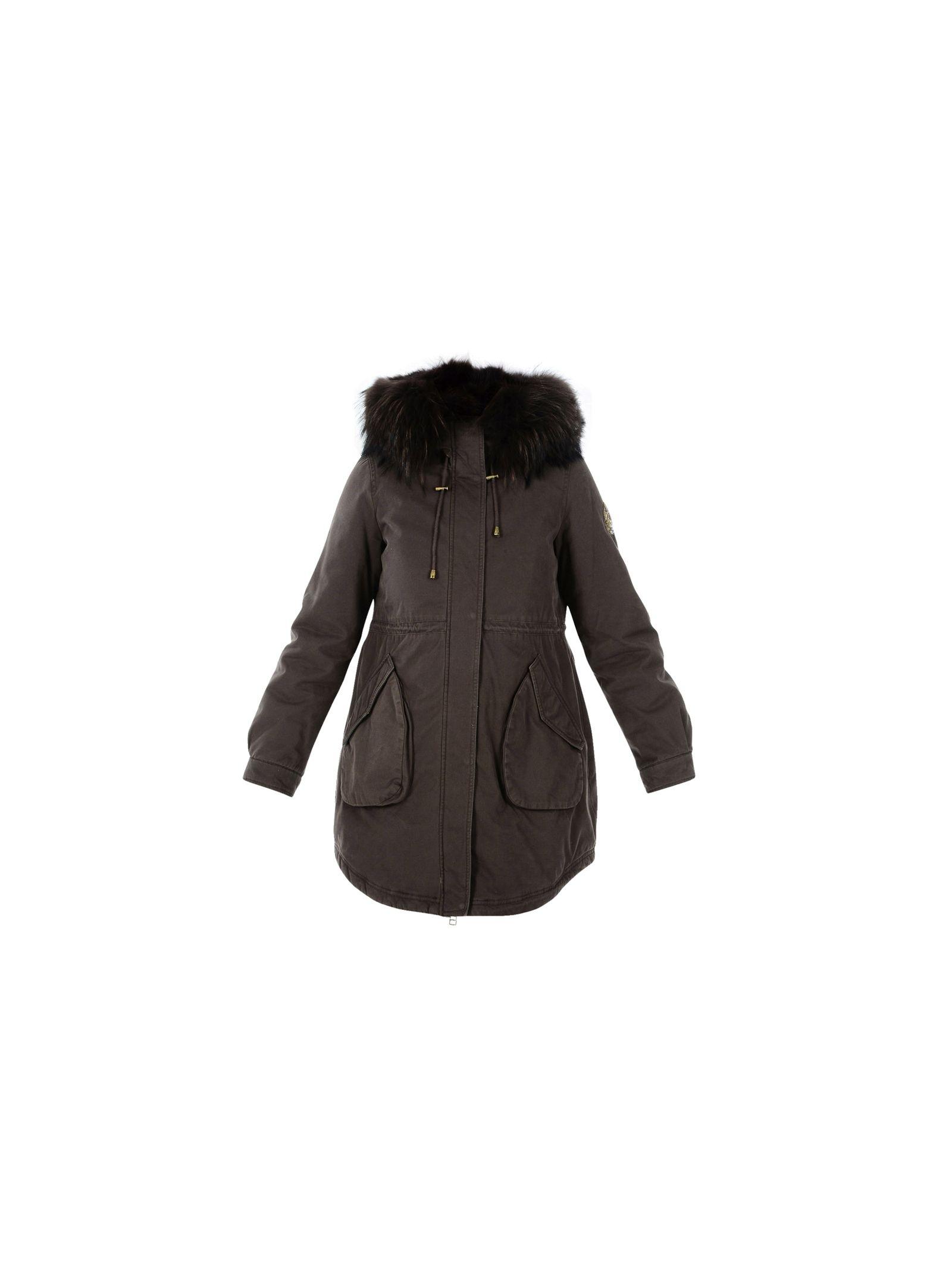 Alessandra Chamonix Fur Detail Parka Coat