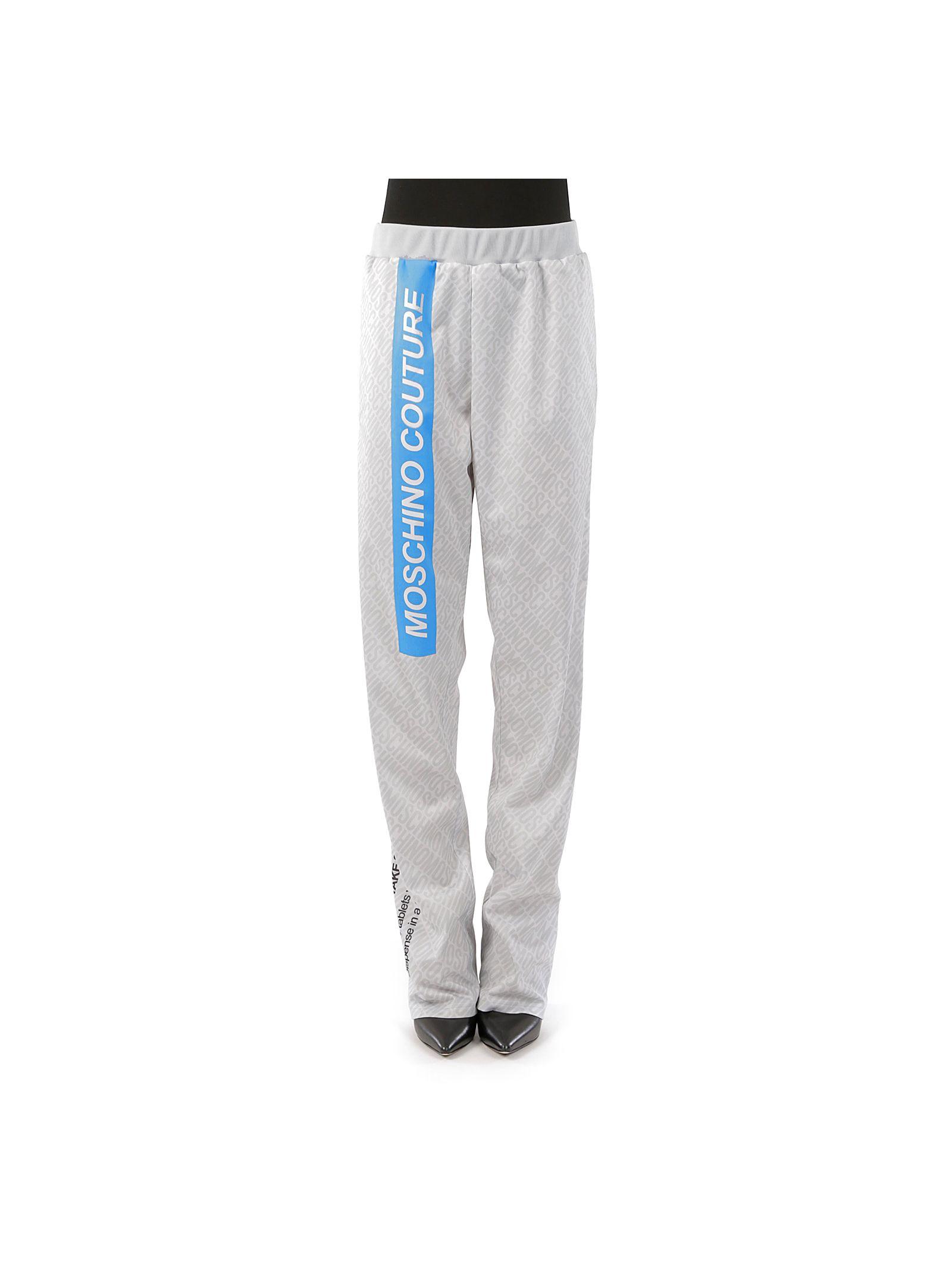 Pantaloni sport MOSCHINO, casual, pentru femei