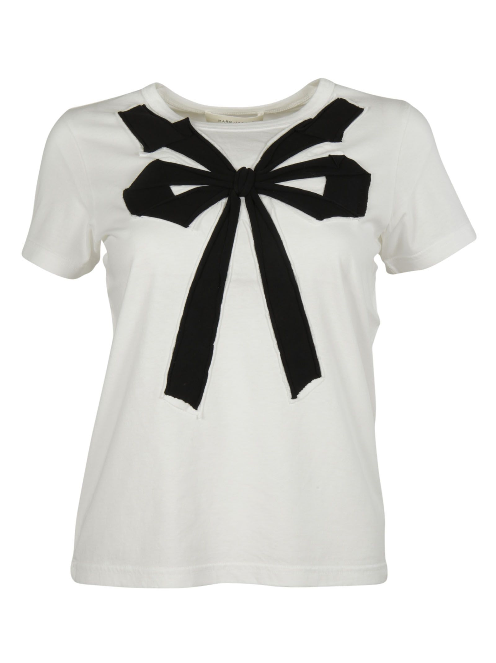 marc jacobs female 45883 white multi bow embroidery tshirt