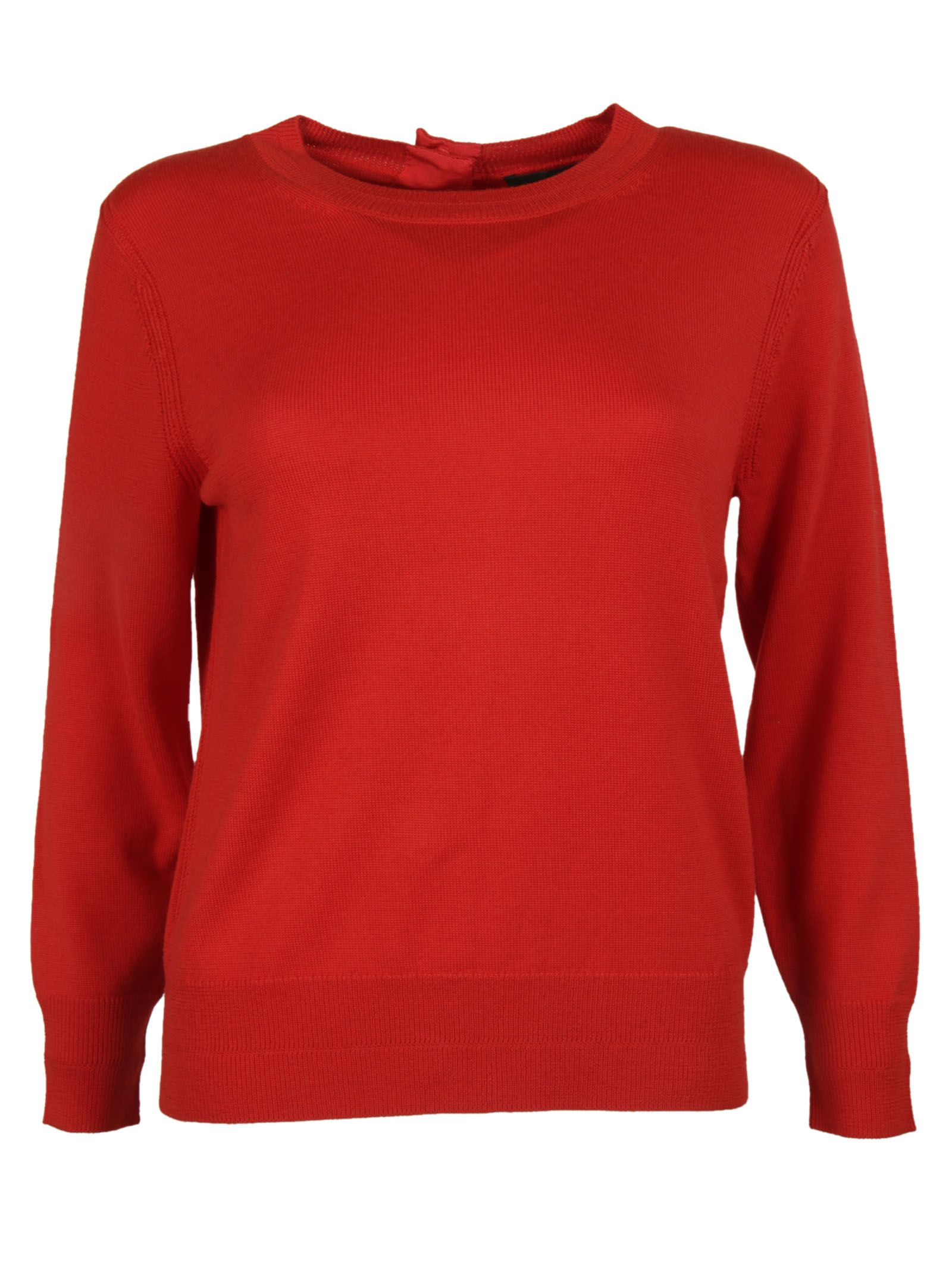 marc jacobs female 250960 red back buttoned crewneck