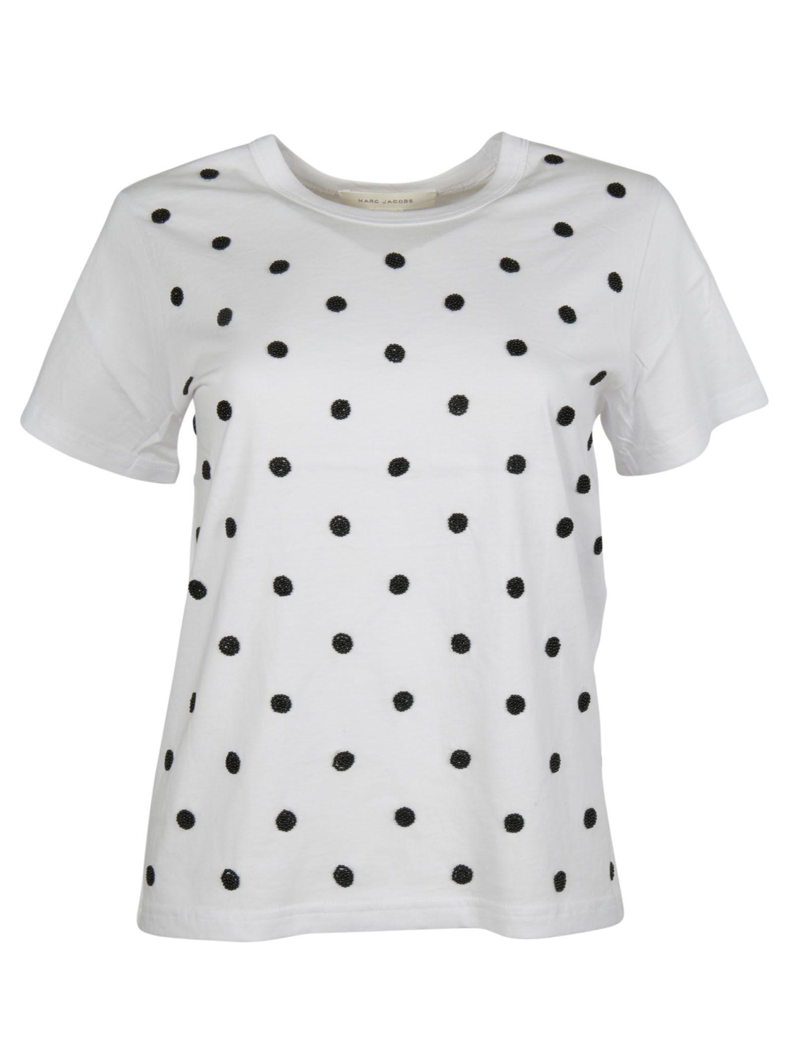 marc jacobs female 233680 polka dots tshirt