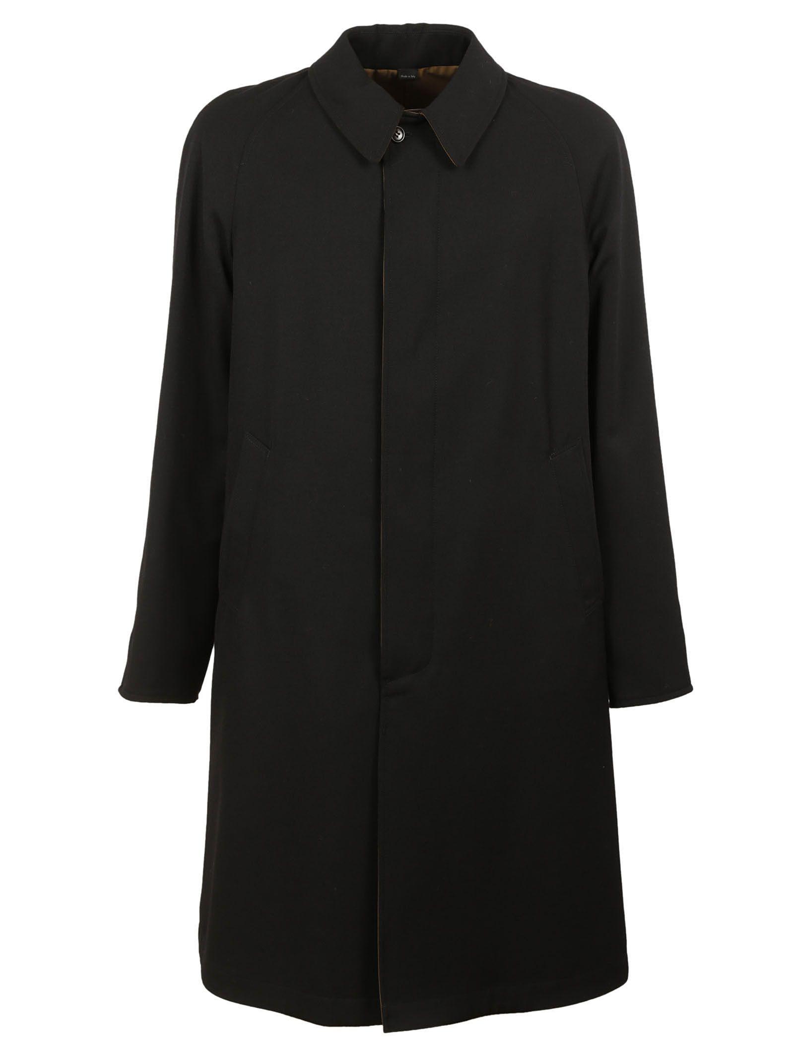 gucci male dark blue reversible coat
