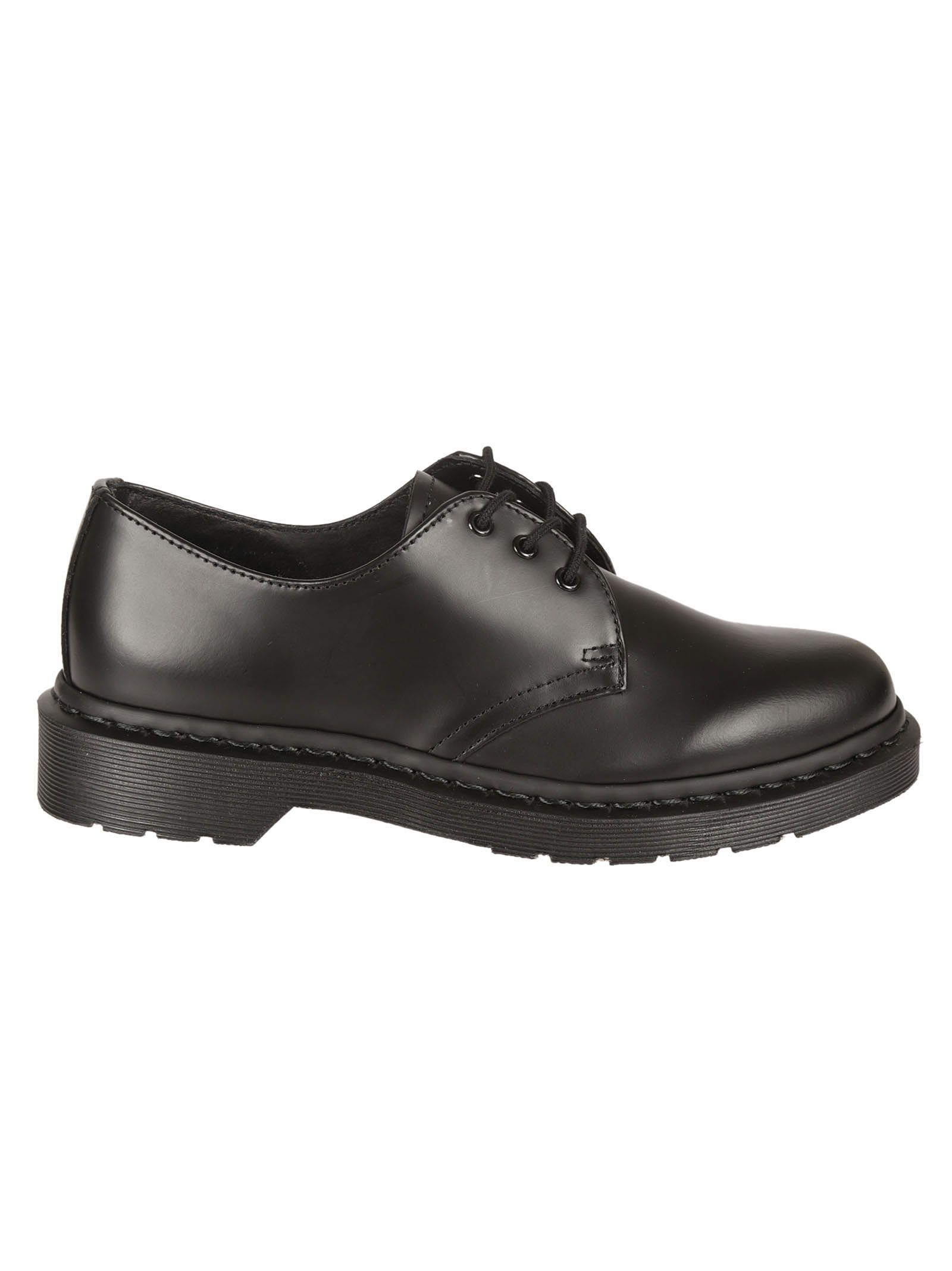 dr martens female black 1461 derby shoes