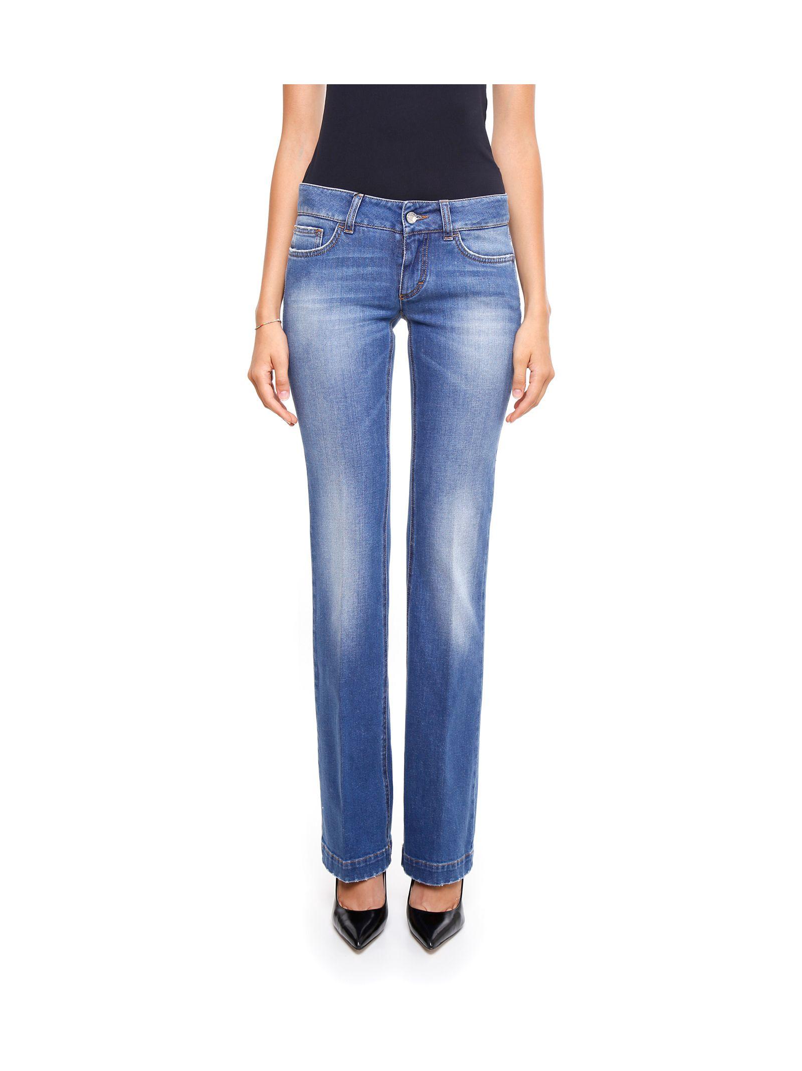 Jeanși de damă DOLCE & GABBANA, din bumbac, cu talie joasă