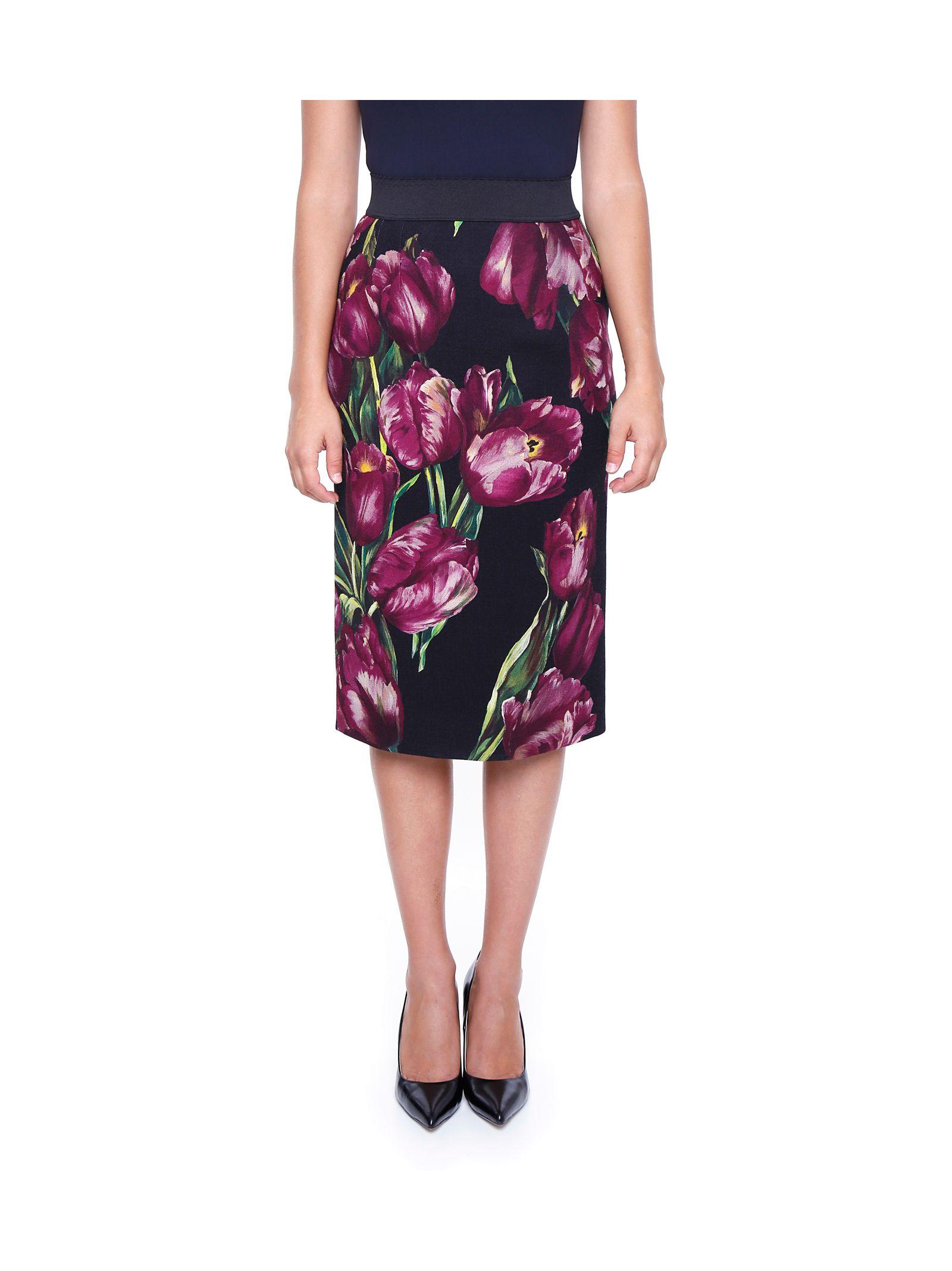 Fustă midi DOLCE & GABBANA, fashion, cu imprimeu floral
