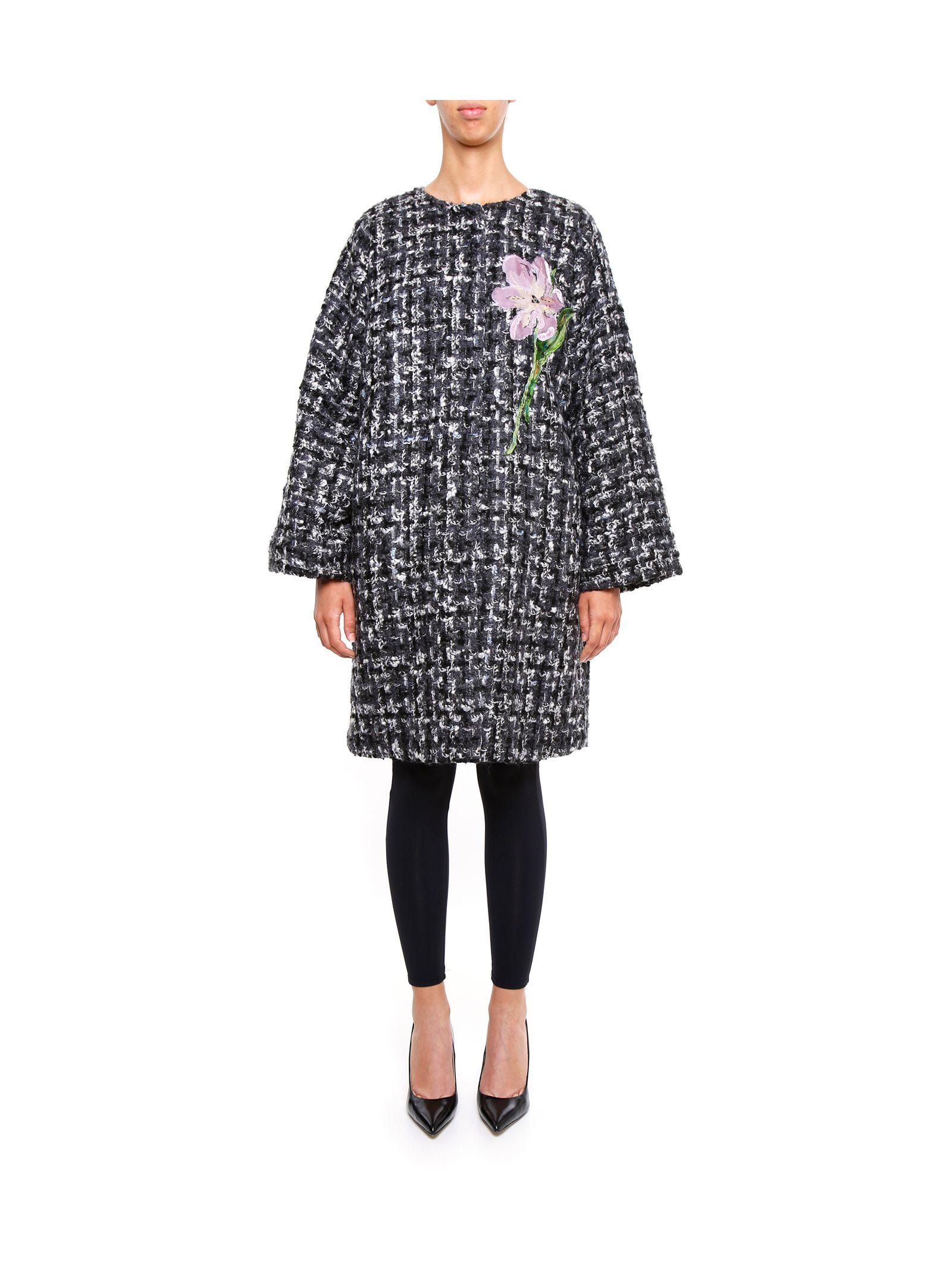 Palton de damă DOLCE & GABBANA, fashion, lână, cu broderie