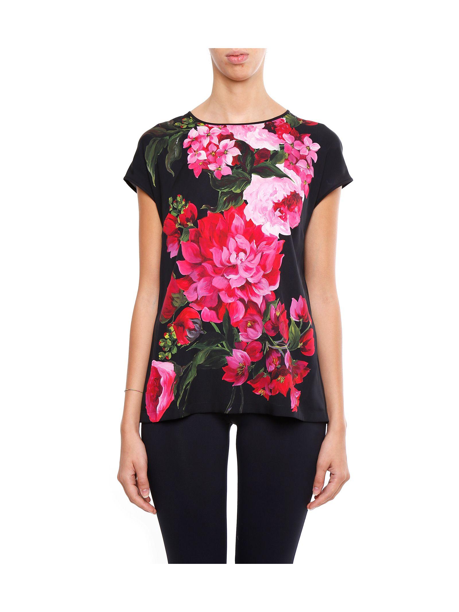 Bluză de damă DOLCE & GABBANA, fashion, cu mânecă scurtă și imprimeu floral