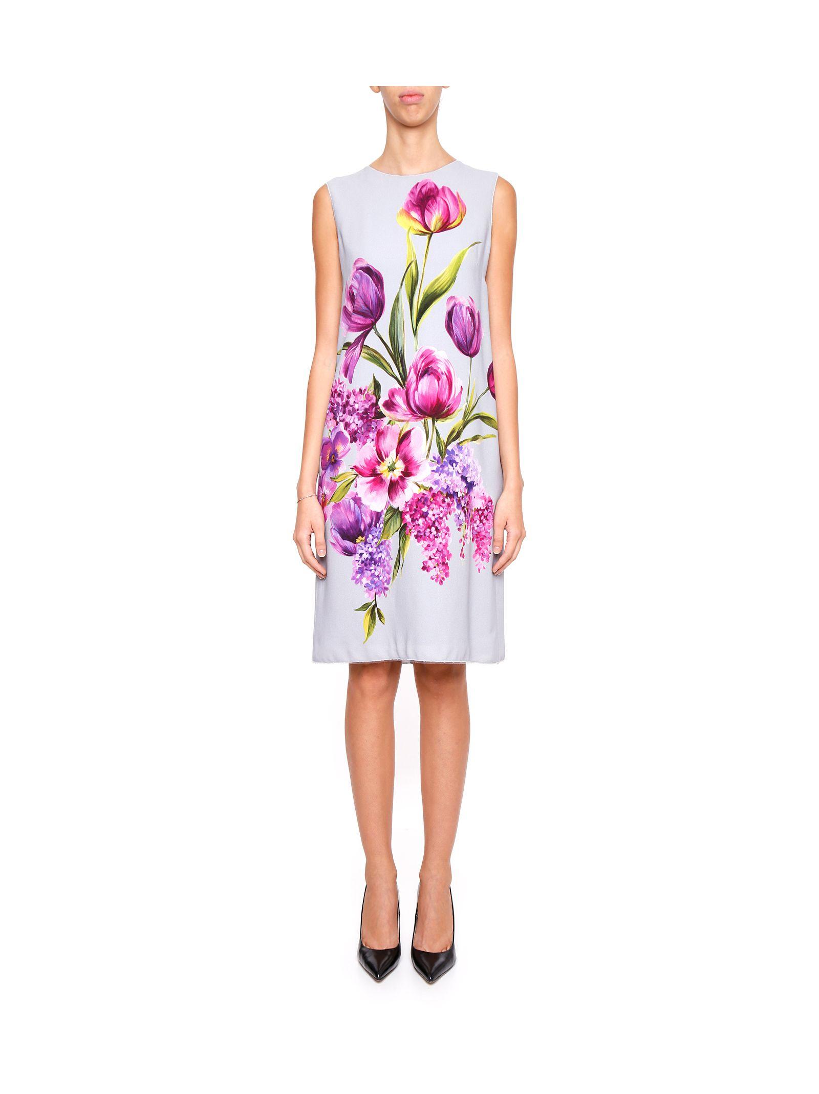 Rochie midi DOLCE & GABBANA, elegantă, cu imprimeu floral