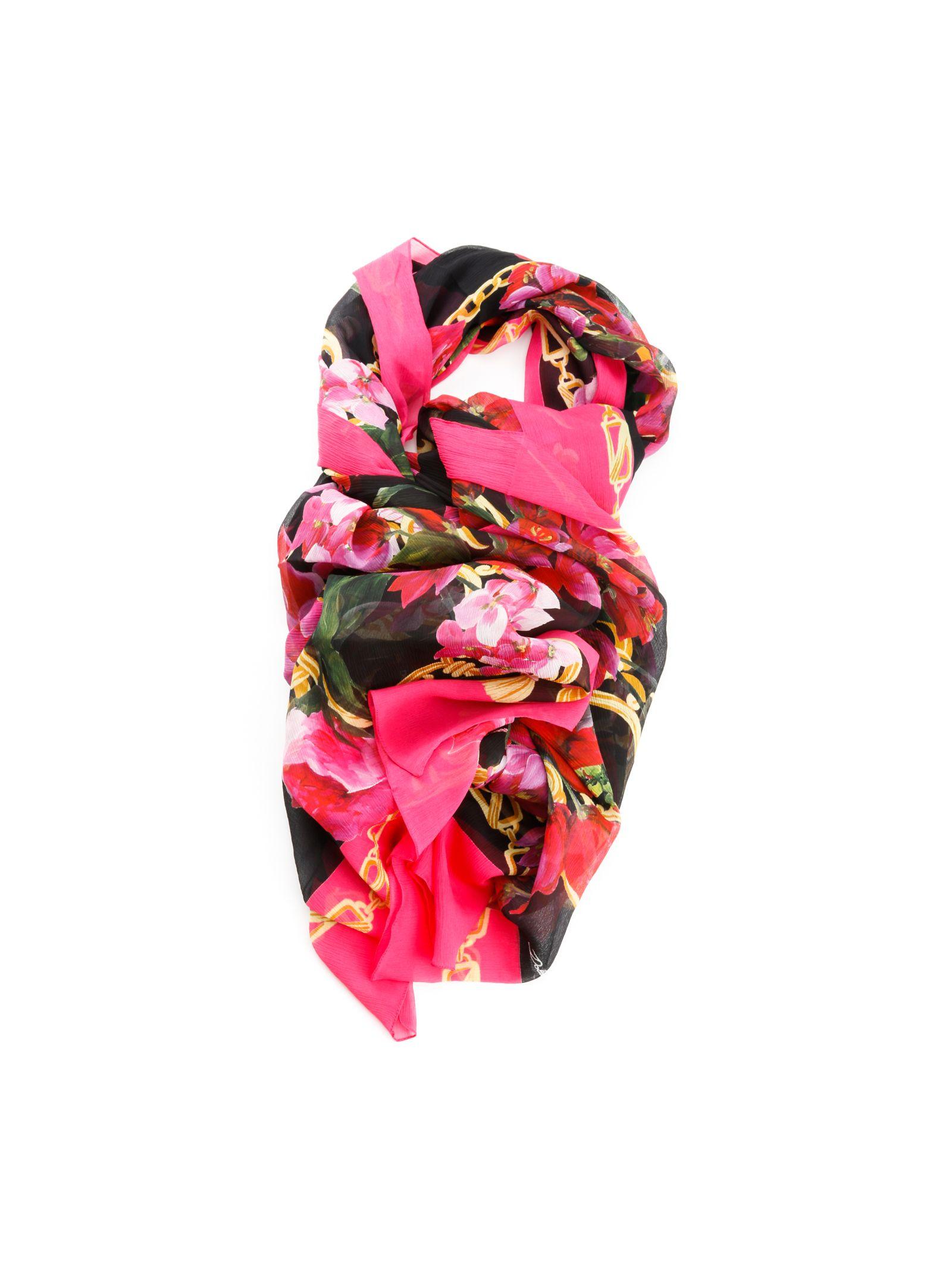 Eșarfă de damă DOLCE & GABBANA, fashion, cu imprimeu floral
