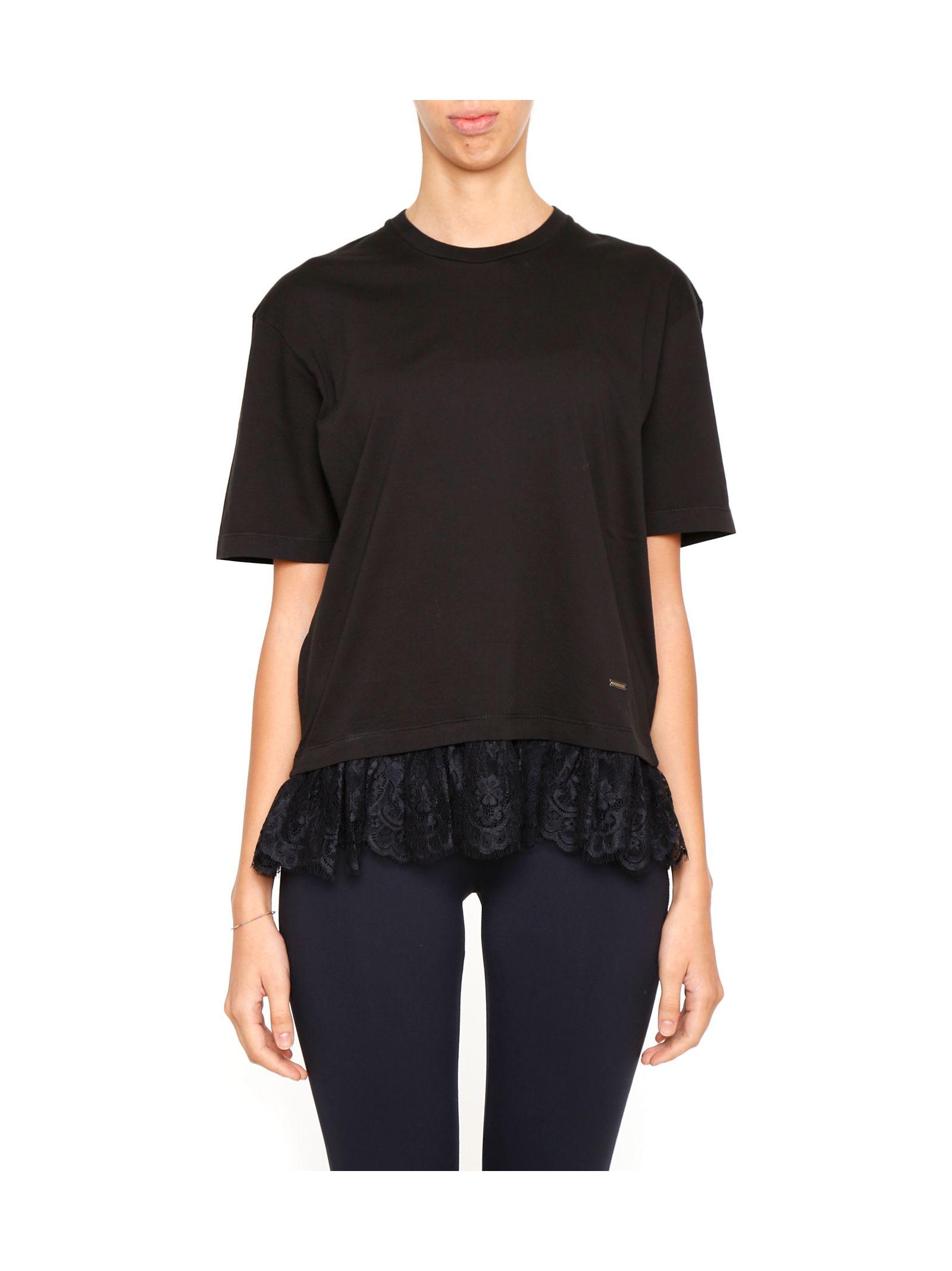 Tricou de damă DSQUARED2,  fashion, cu dantelă