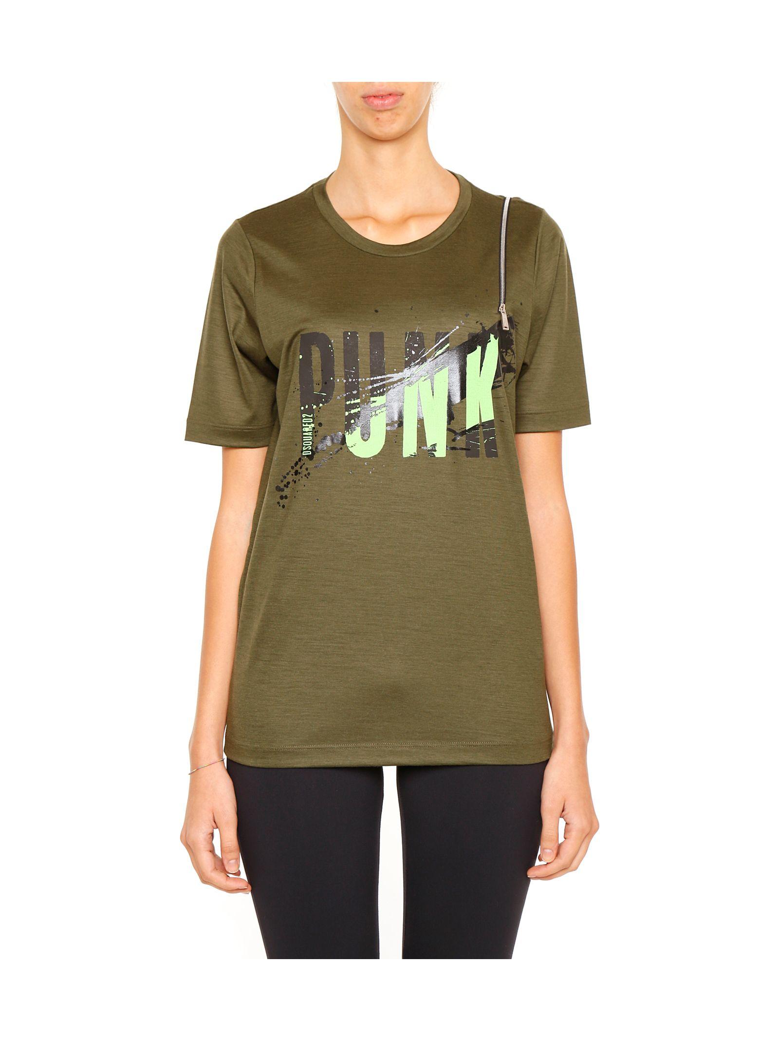 Tricou de damă DSQUARED2 Punk, fashion, cu imprimeu