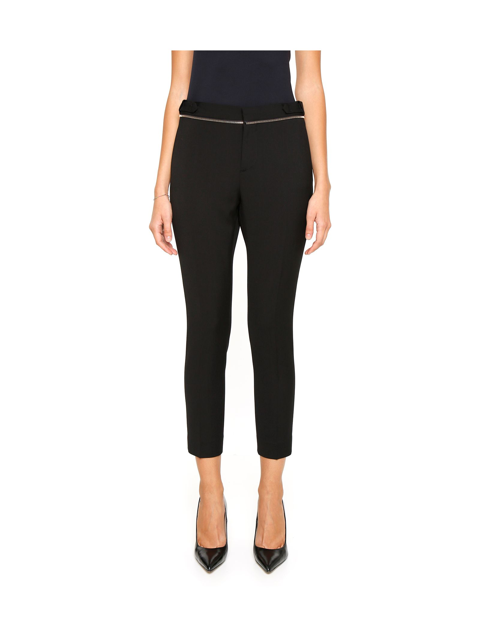 Pantaloni de damă DSQUARED2, fashion, cu bandă elastică și fermoar decorativ