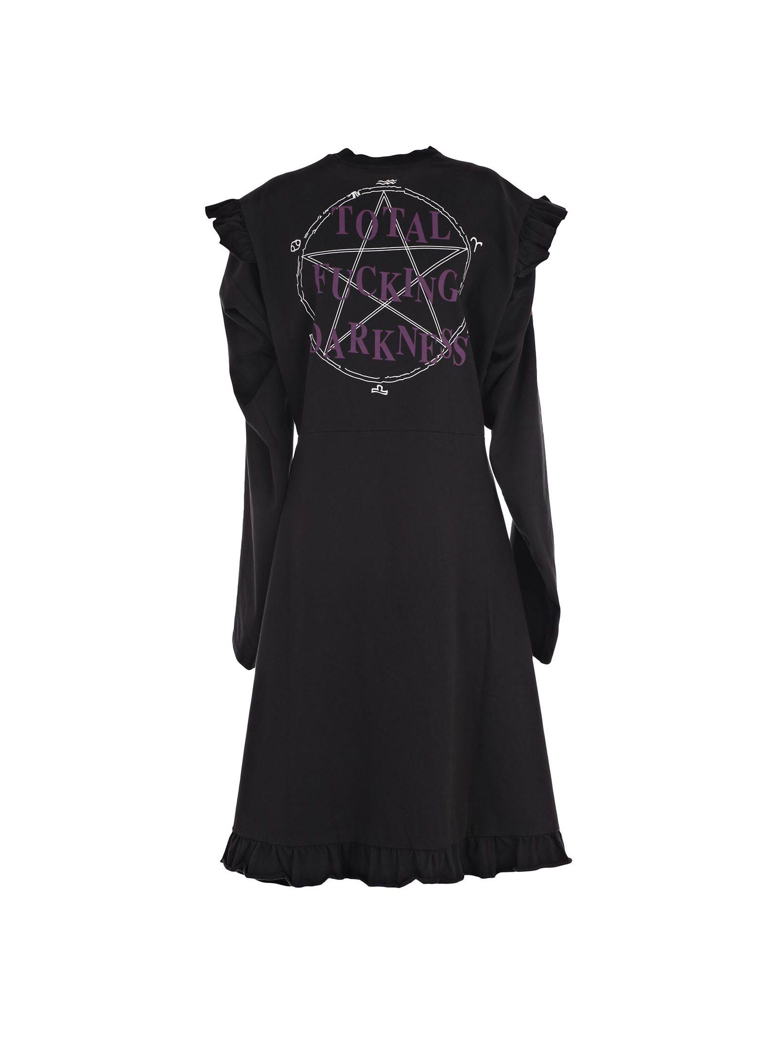 Dress From Vetements: Black Print Cotton Dress