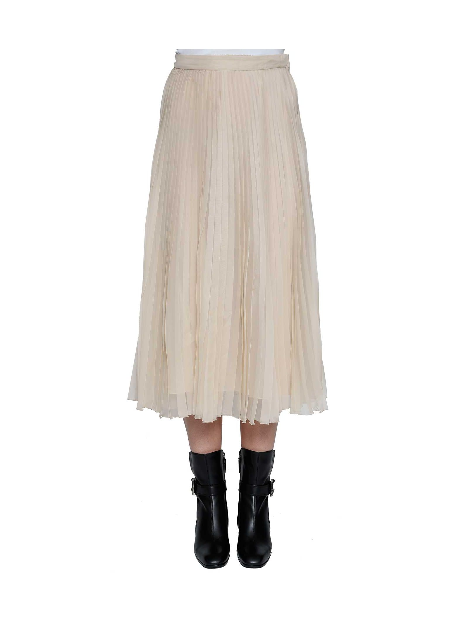 gucci female 123819 gucci silk organza pleated skirt