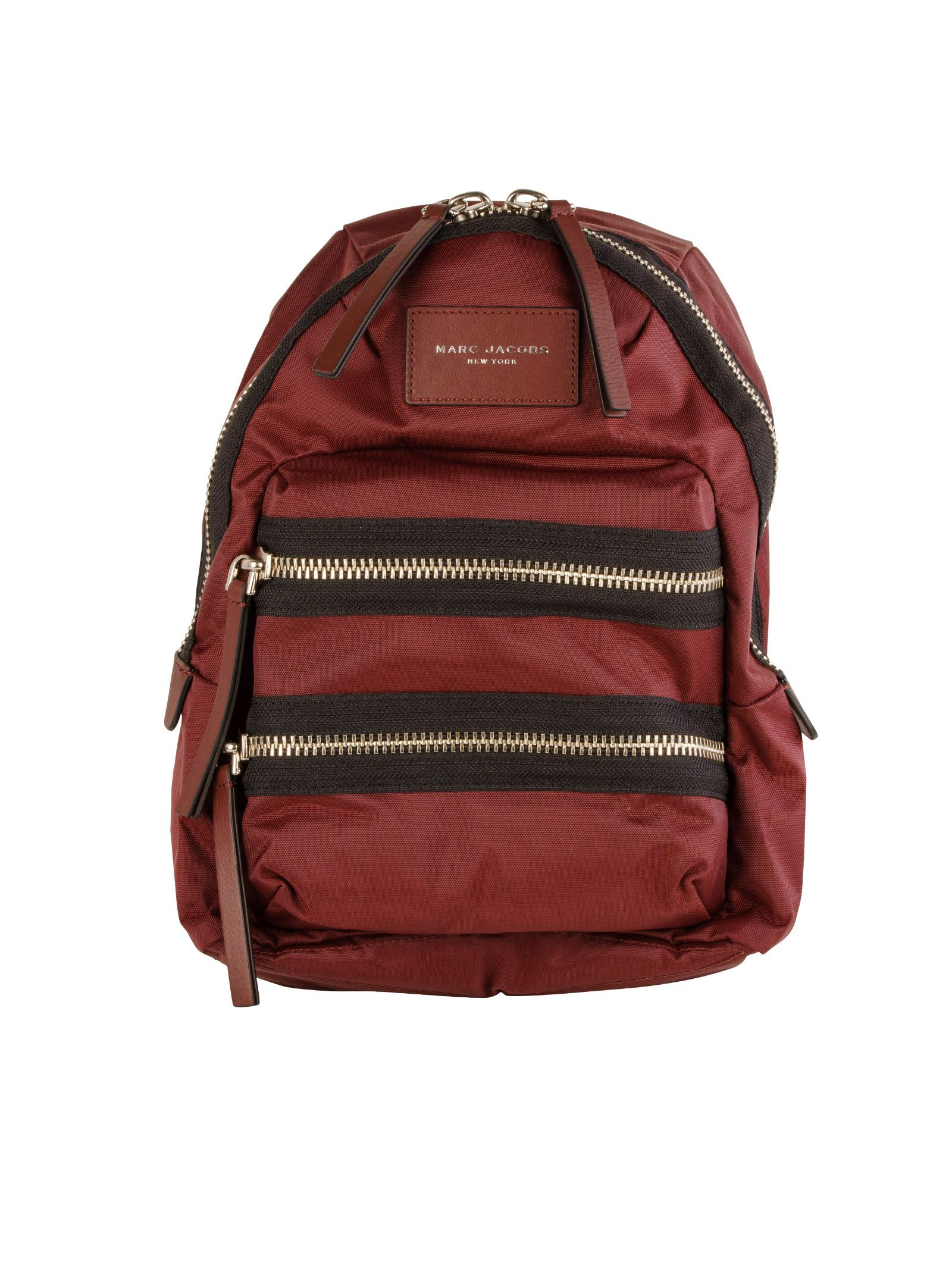 marc jacobs female 250960 marc jacobs bordeaux fabric backpack