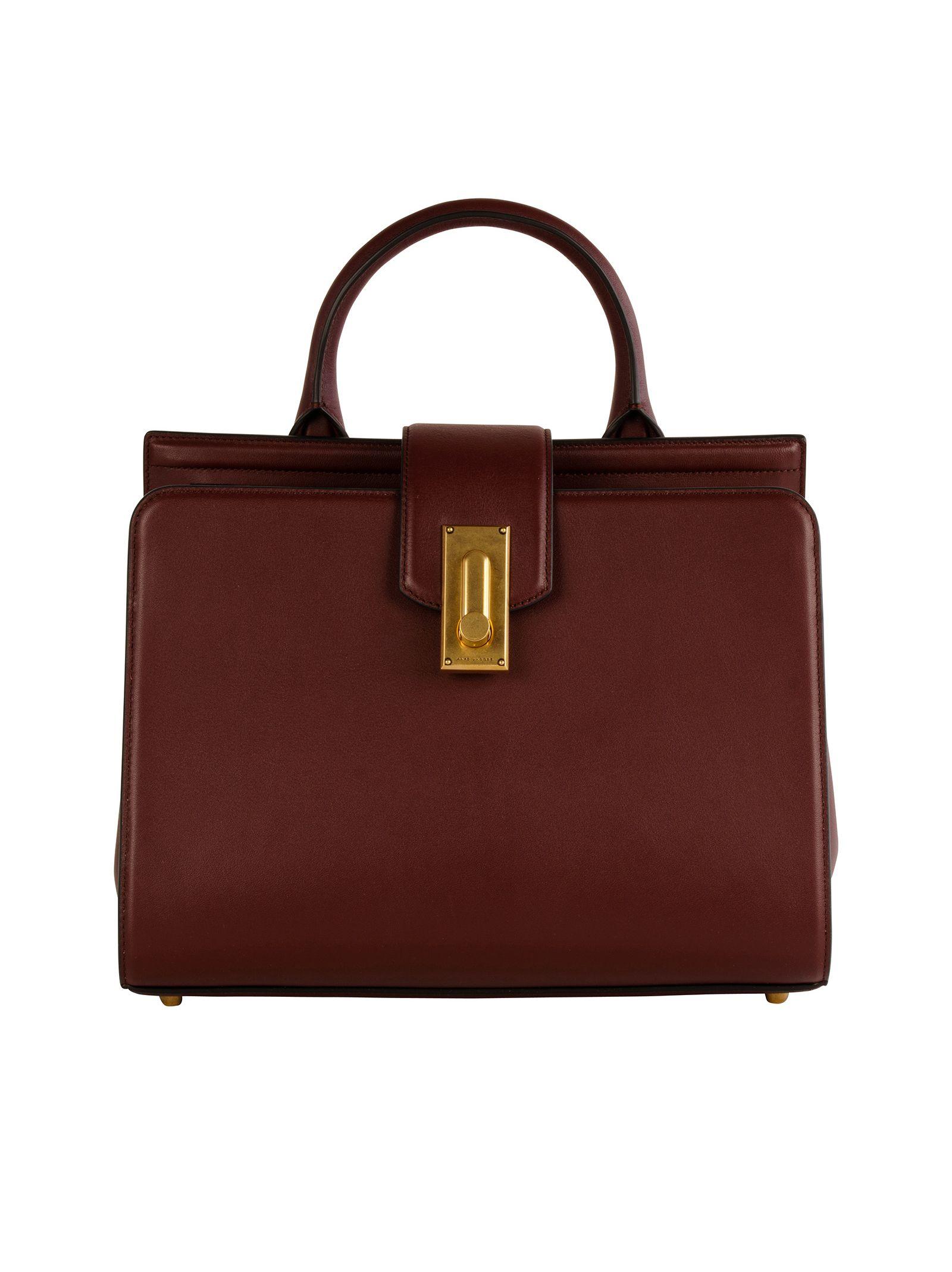 marc jacobs female 248826 marc jacobs plum leather handle bag