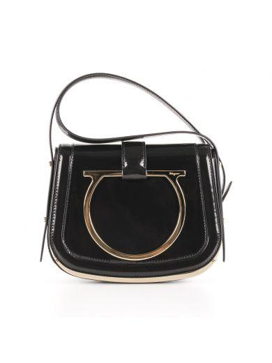 f938f9e008 SALVATORE FERRAGAMO Small Sabine Patent Leather Shoulder Bag