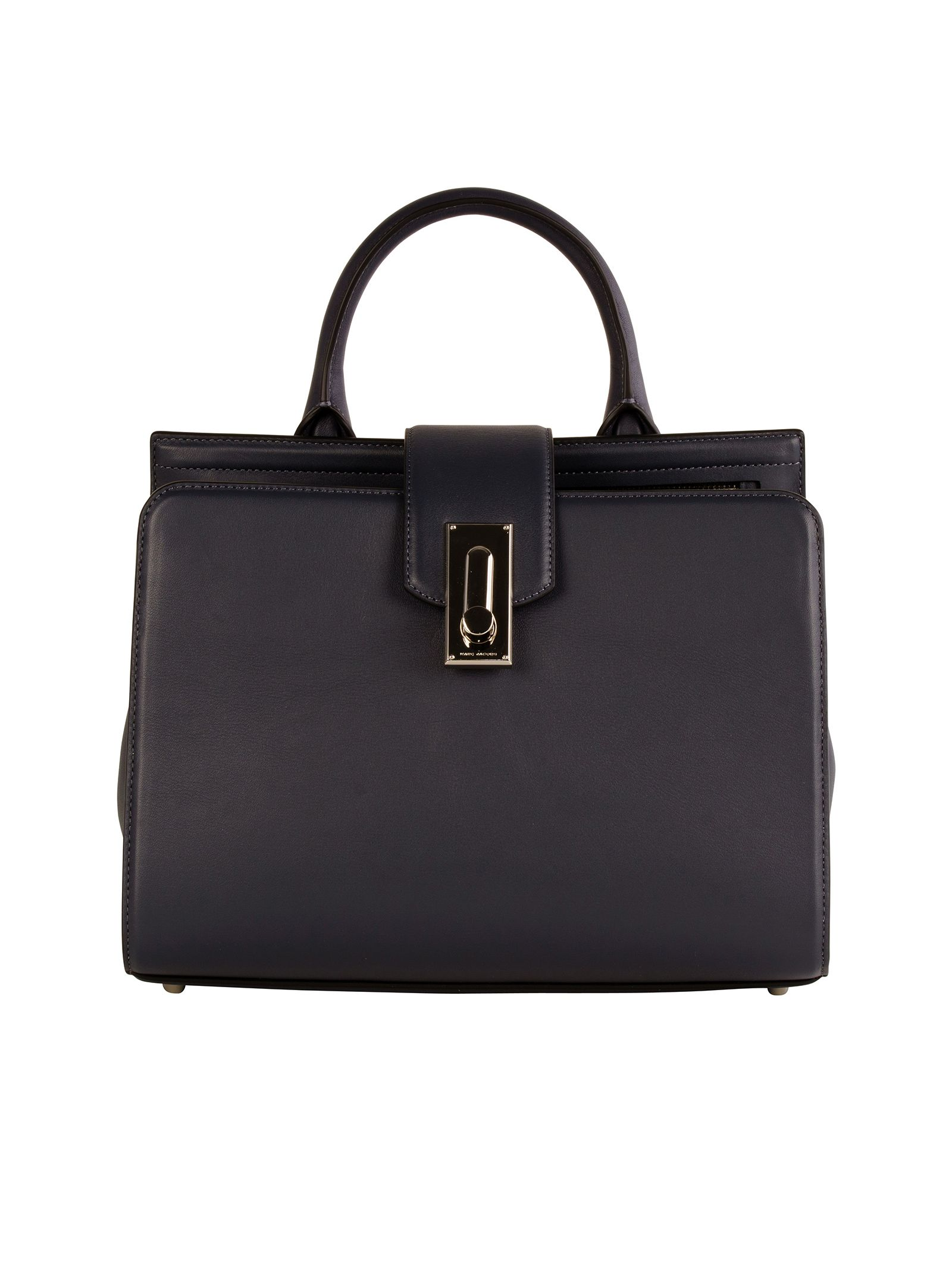 marc jacobs female 45906 marc jacobs grey leather handle bag