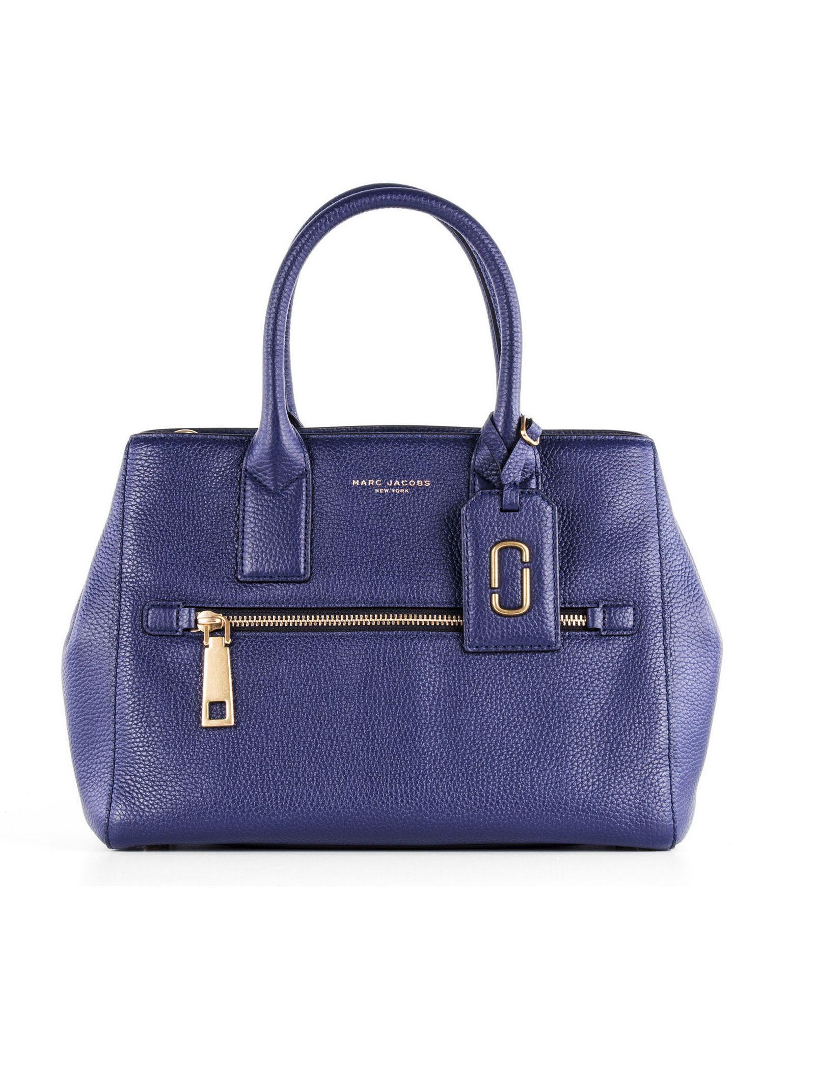 marc jacobs female 201920 marc jacobs blue leather handle bag