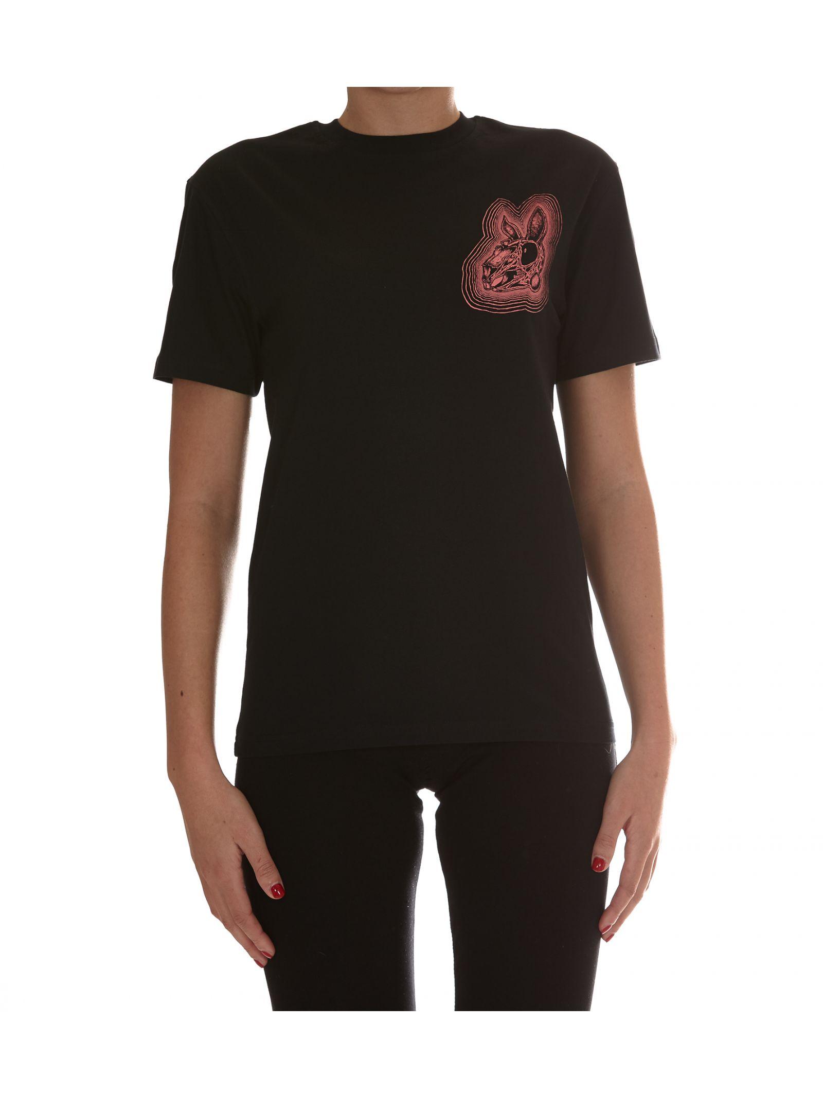 Tricou de damă McQ ALEXANDER McQUEEN, casual, din bumbac, cu logo imprimat