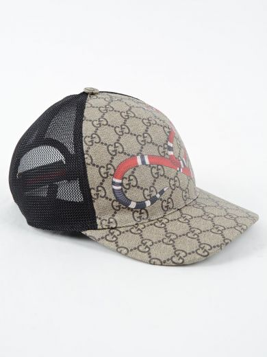 Shop Gucci Snake Baseball Hat In D.Brown Black a466b6a2760