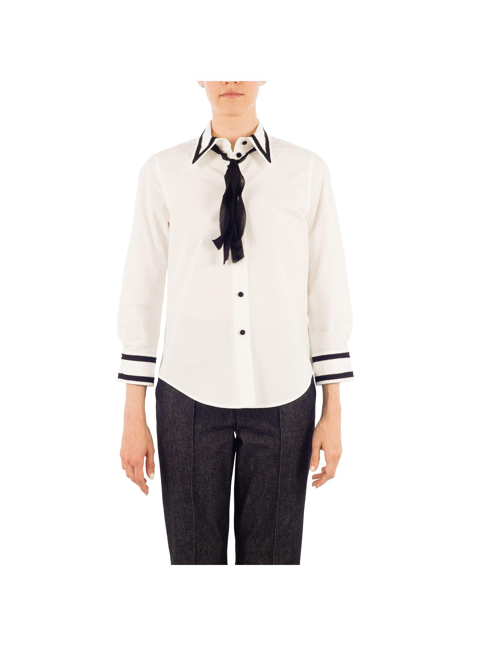 marc jacobs female 45883 marc jacobs white silk shirt