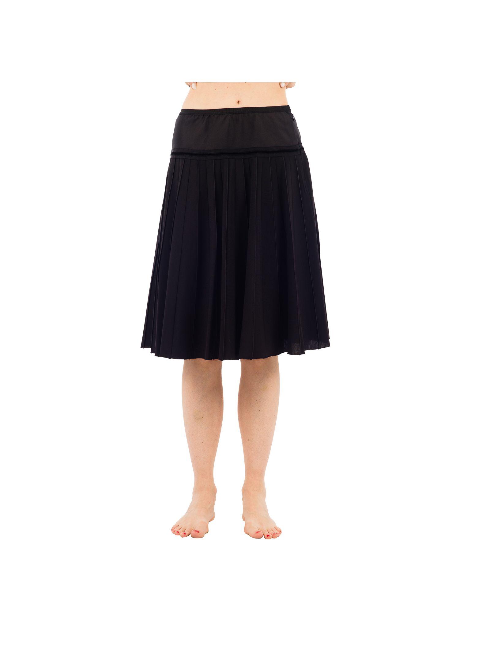 marc jacobs female 188971 marc jacobs black wool skirt