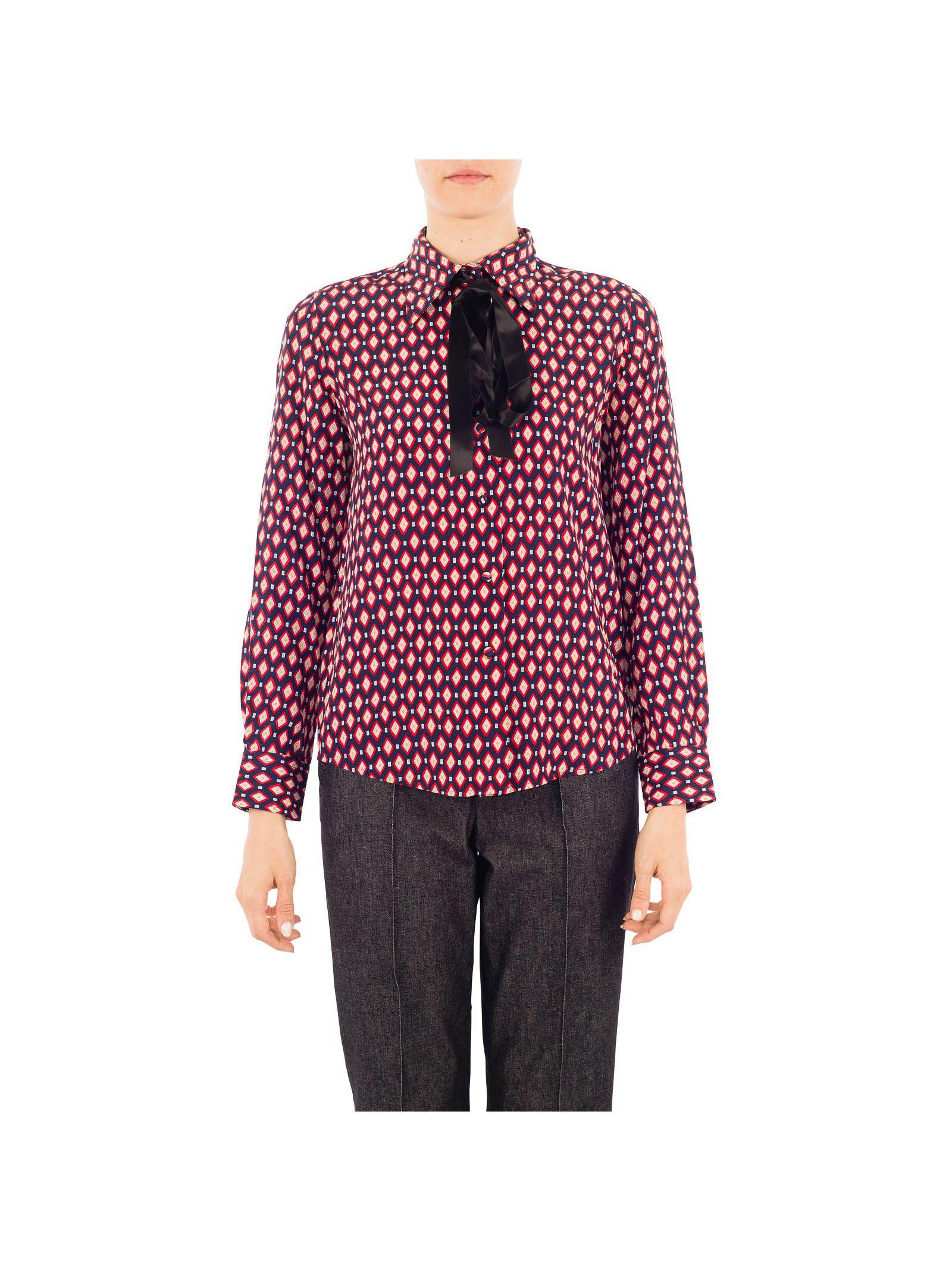 marc jacobs female 46325 marc jacobs multicolor silk shirt