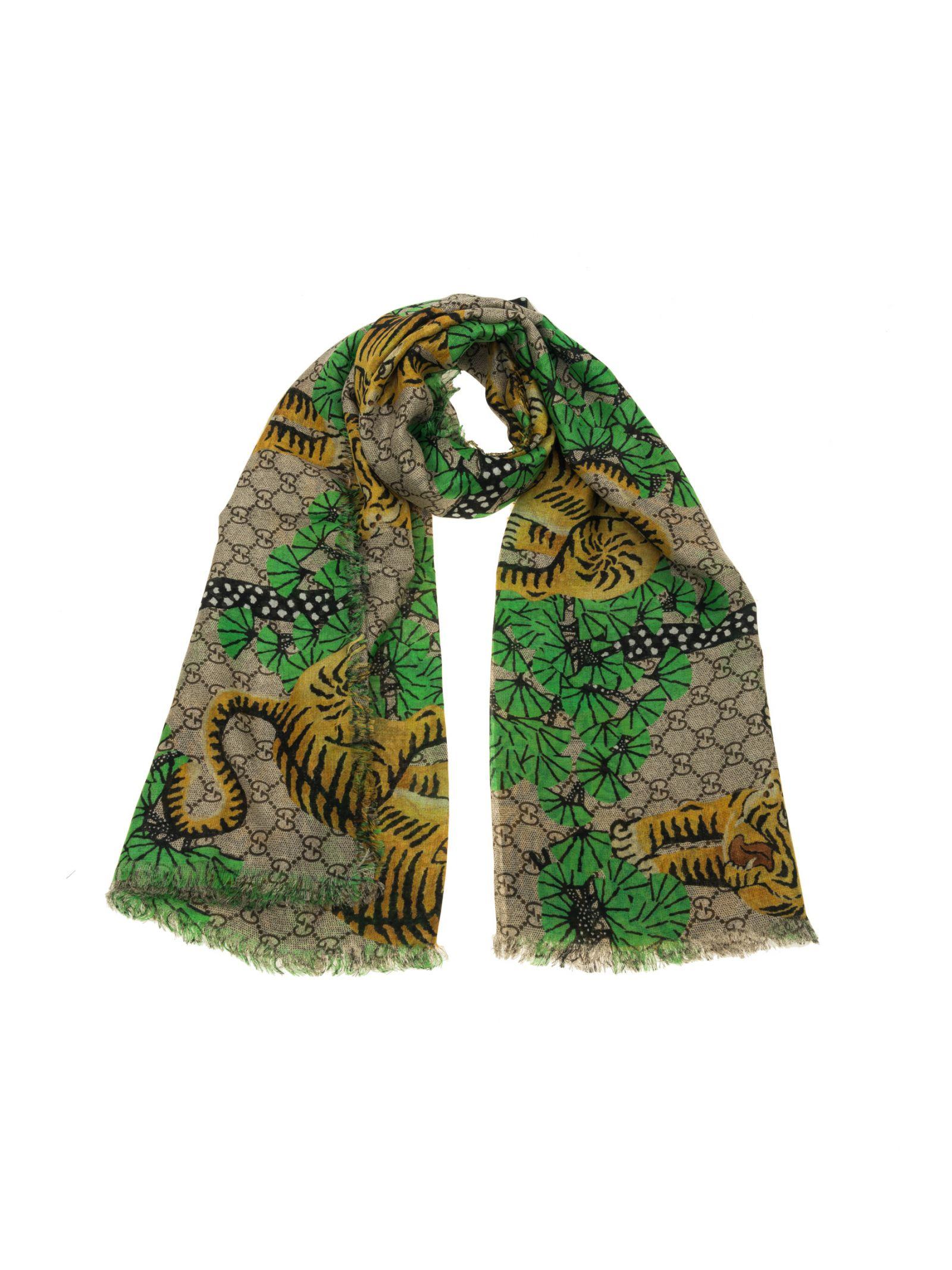 gucci male gucci tigers scarf