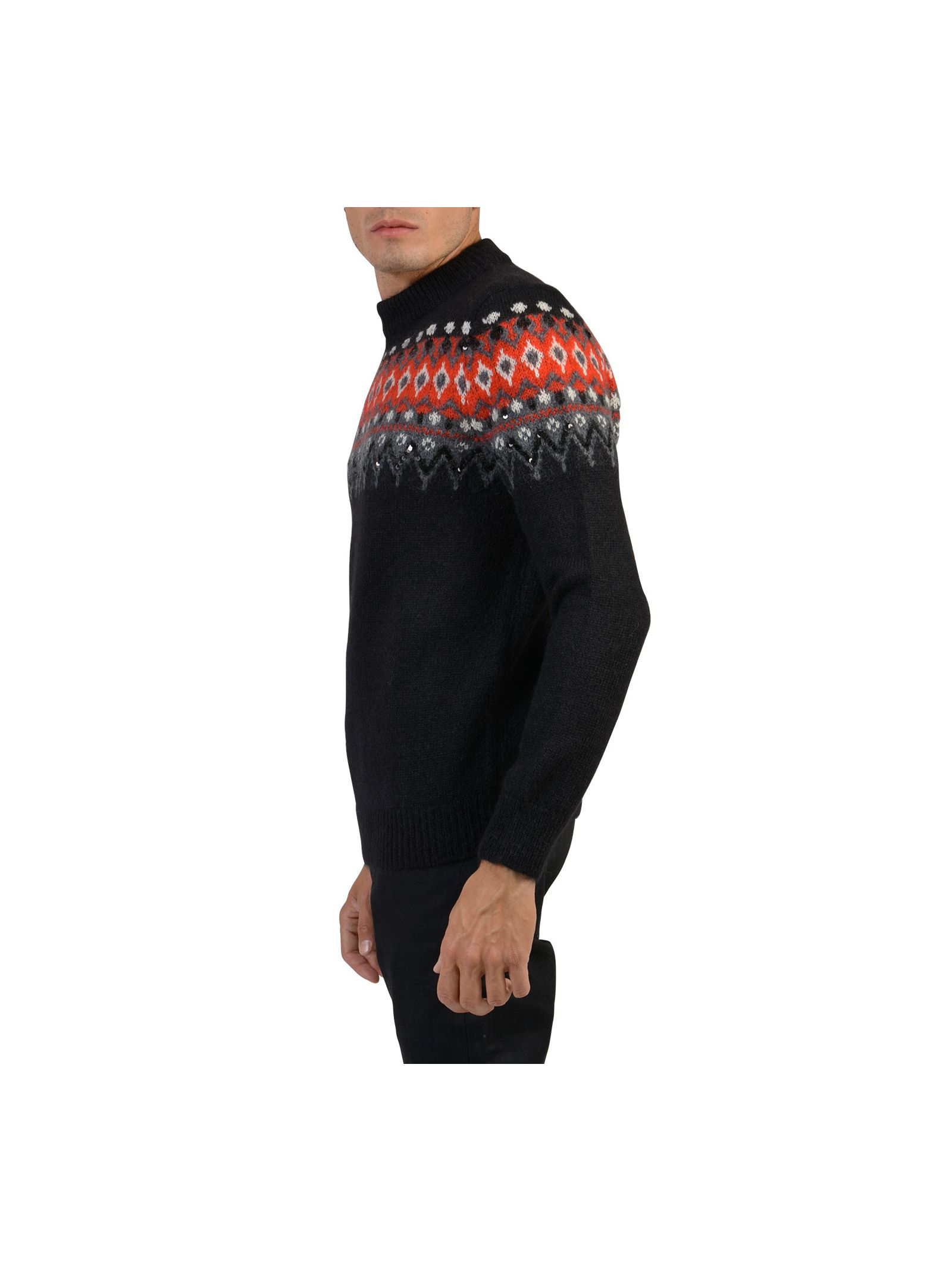 Saint Laurent Jumper With Intarsia And Paillettes