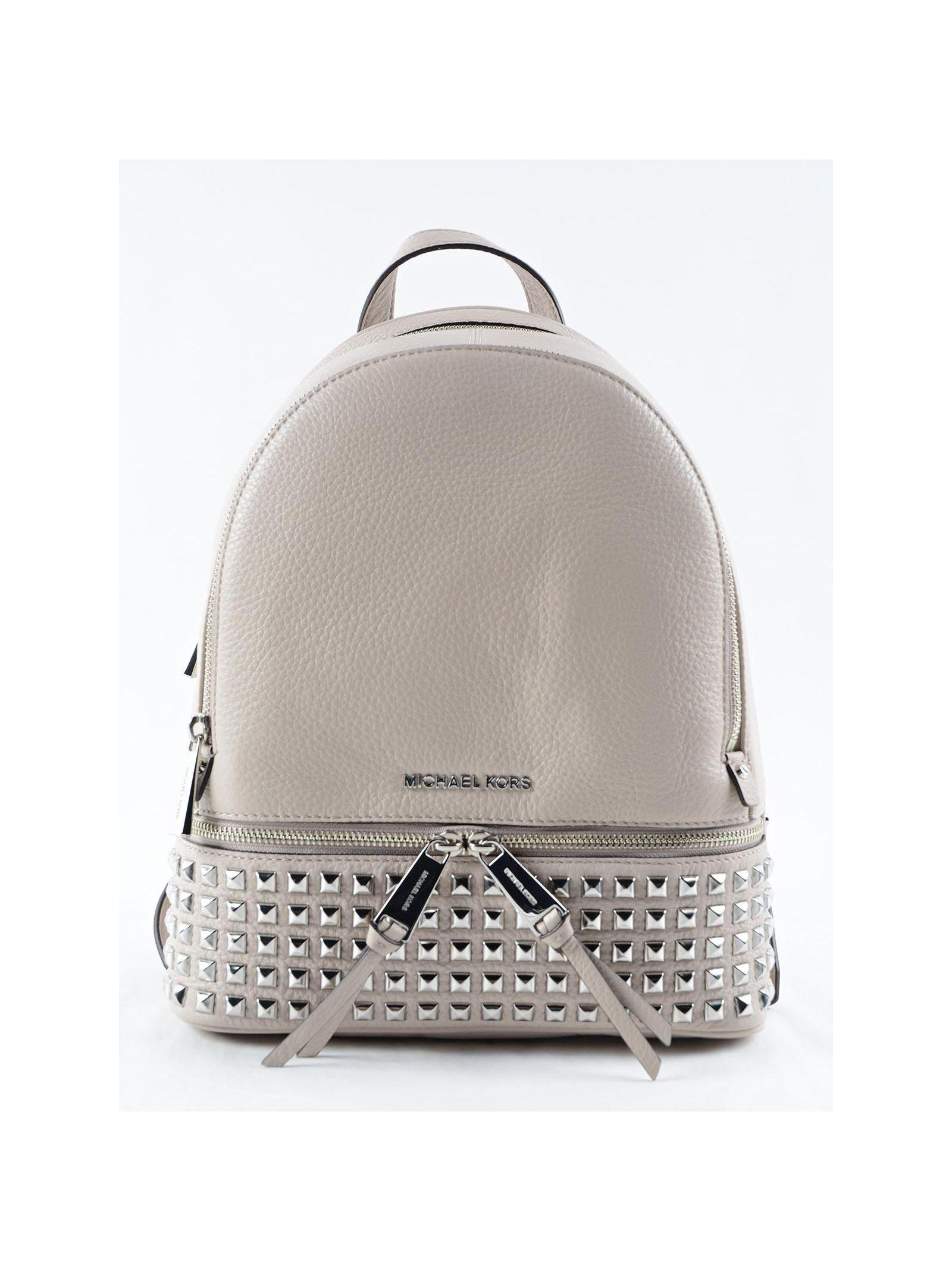 michael kors female michael kors rhea zip md stud backpack