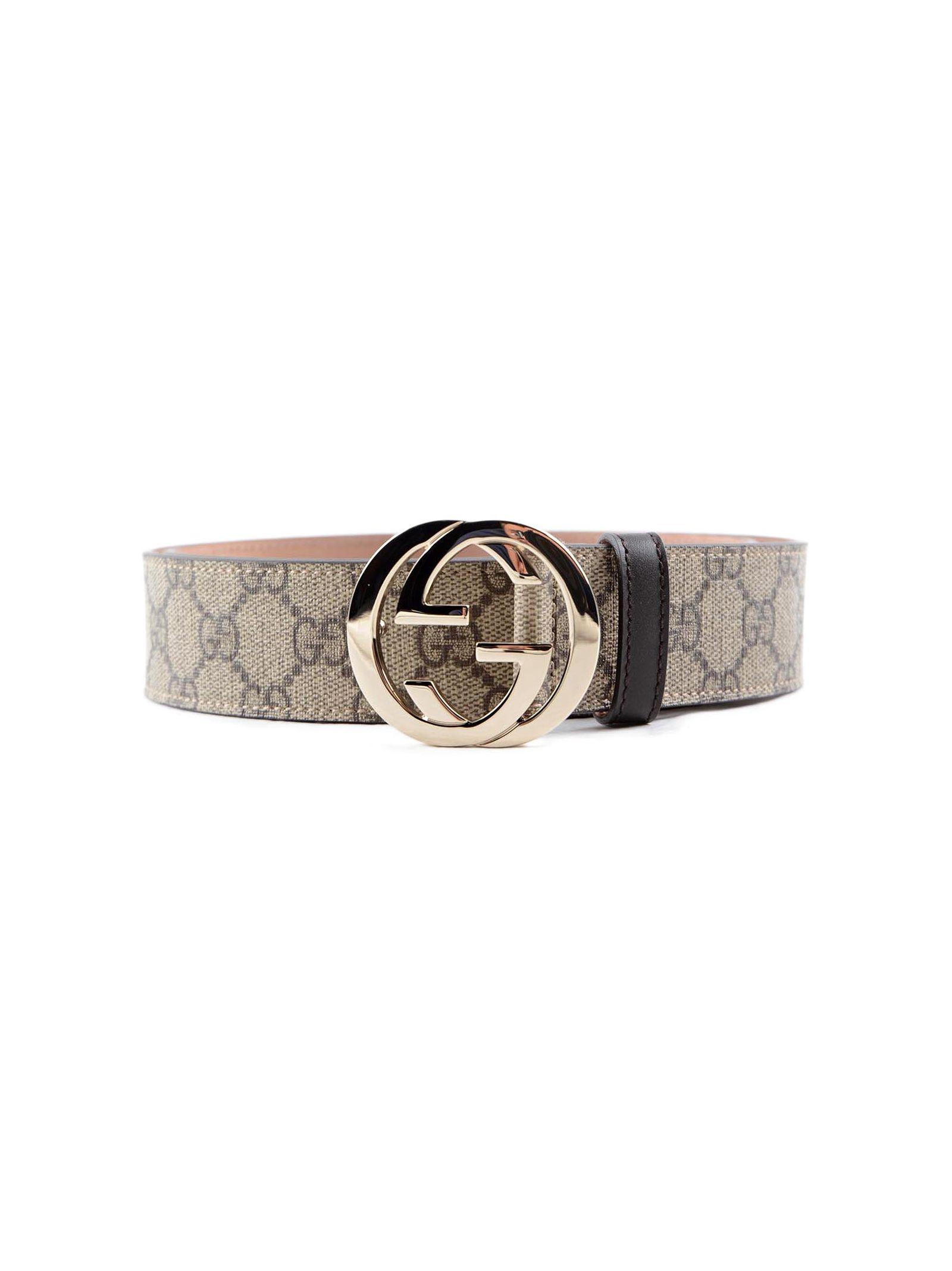 gucci female gucci gg supreme belt 37mm