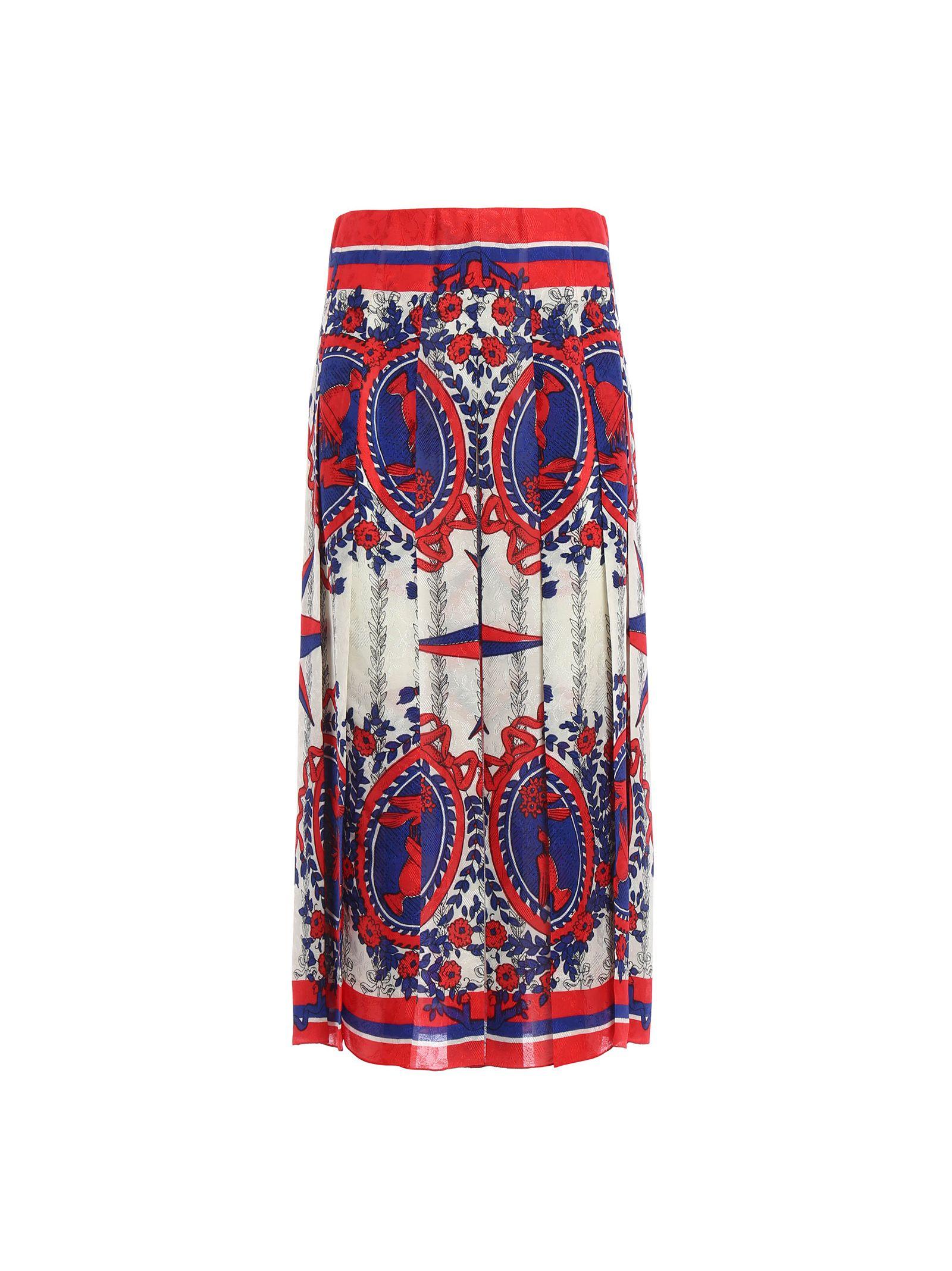 gucci female 233680 gucci carillon skirt