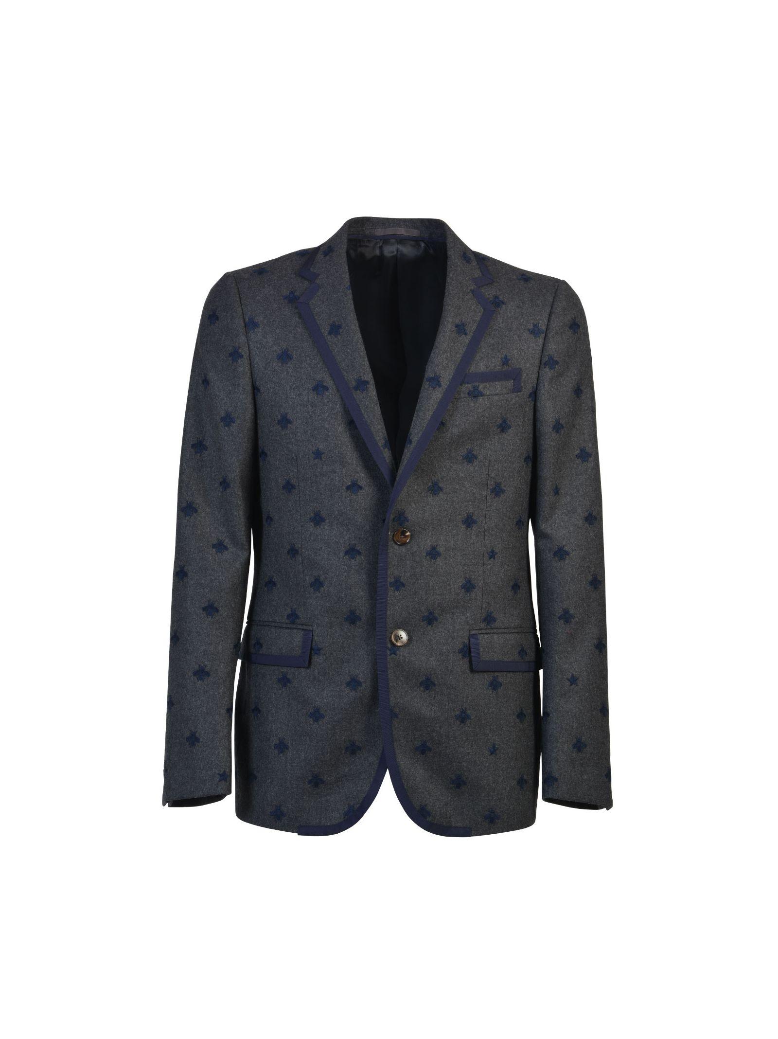 gucci male gucci blazer with embroidery