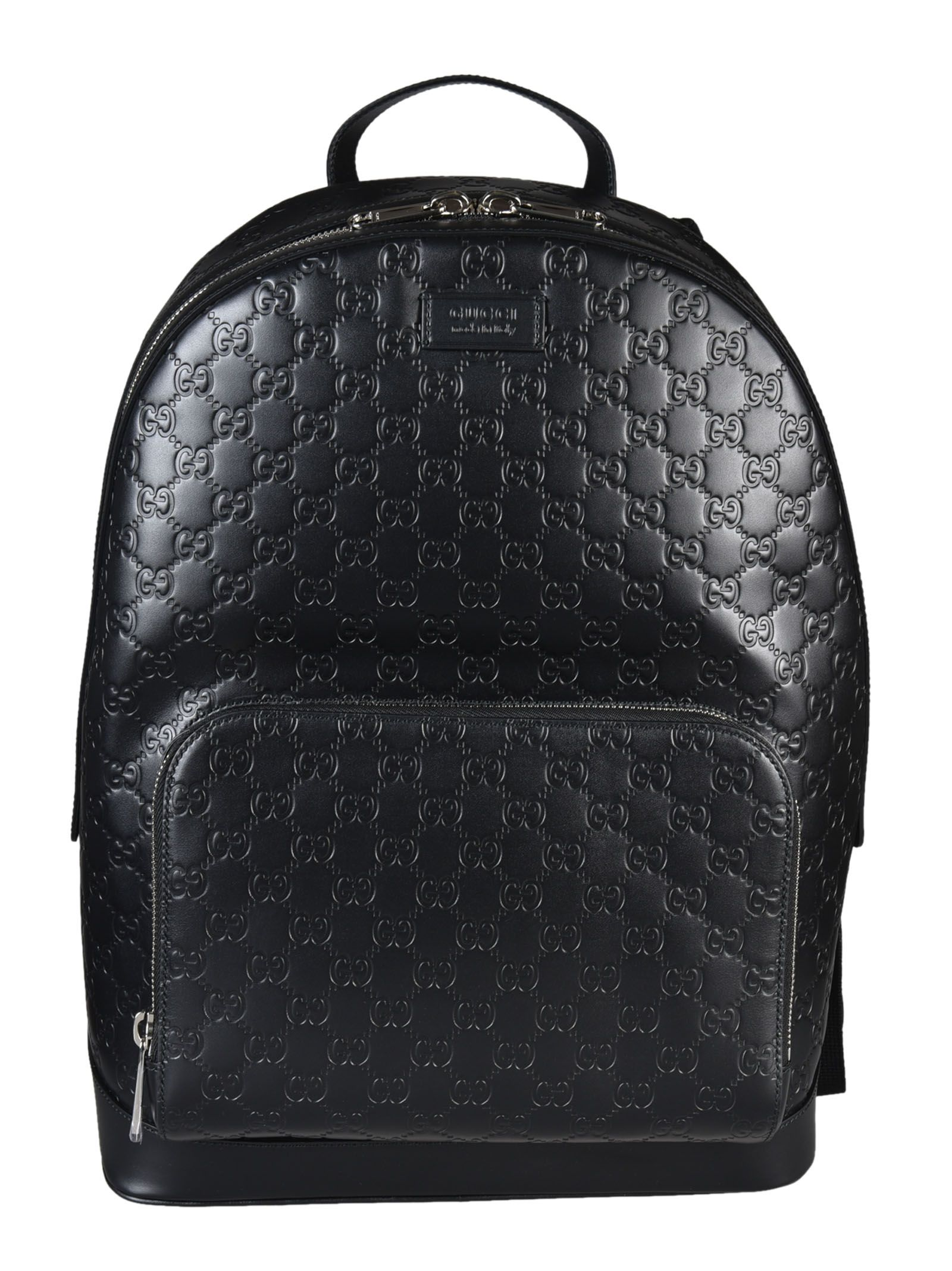 gucci male gucci signature leather backpack