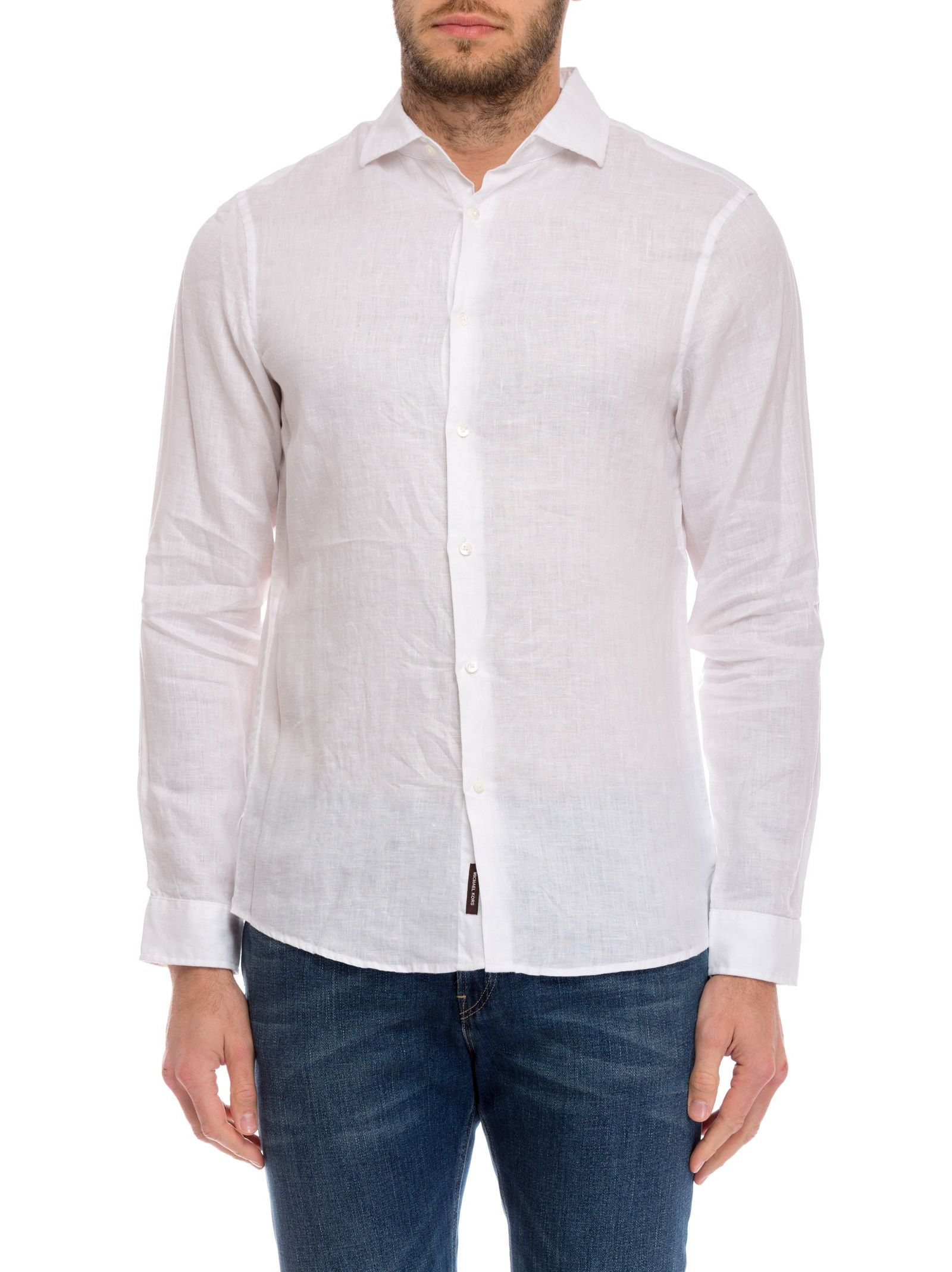 michael kors male 45883 michael kors classic button down shirt