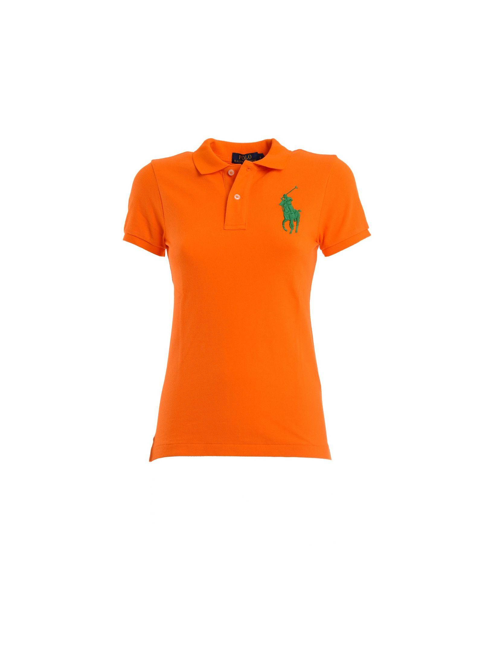 ralph lauren female 240769 ralph lauren cotton polo shirt with two buttons