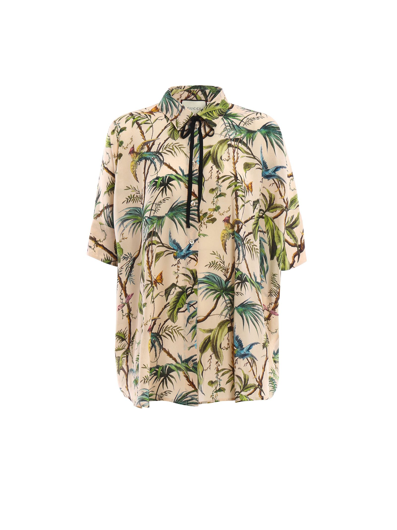 gucci female 123888 gucci tropical new cape shirt