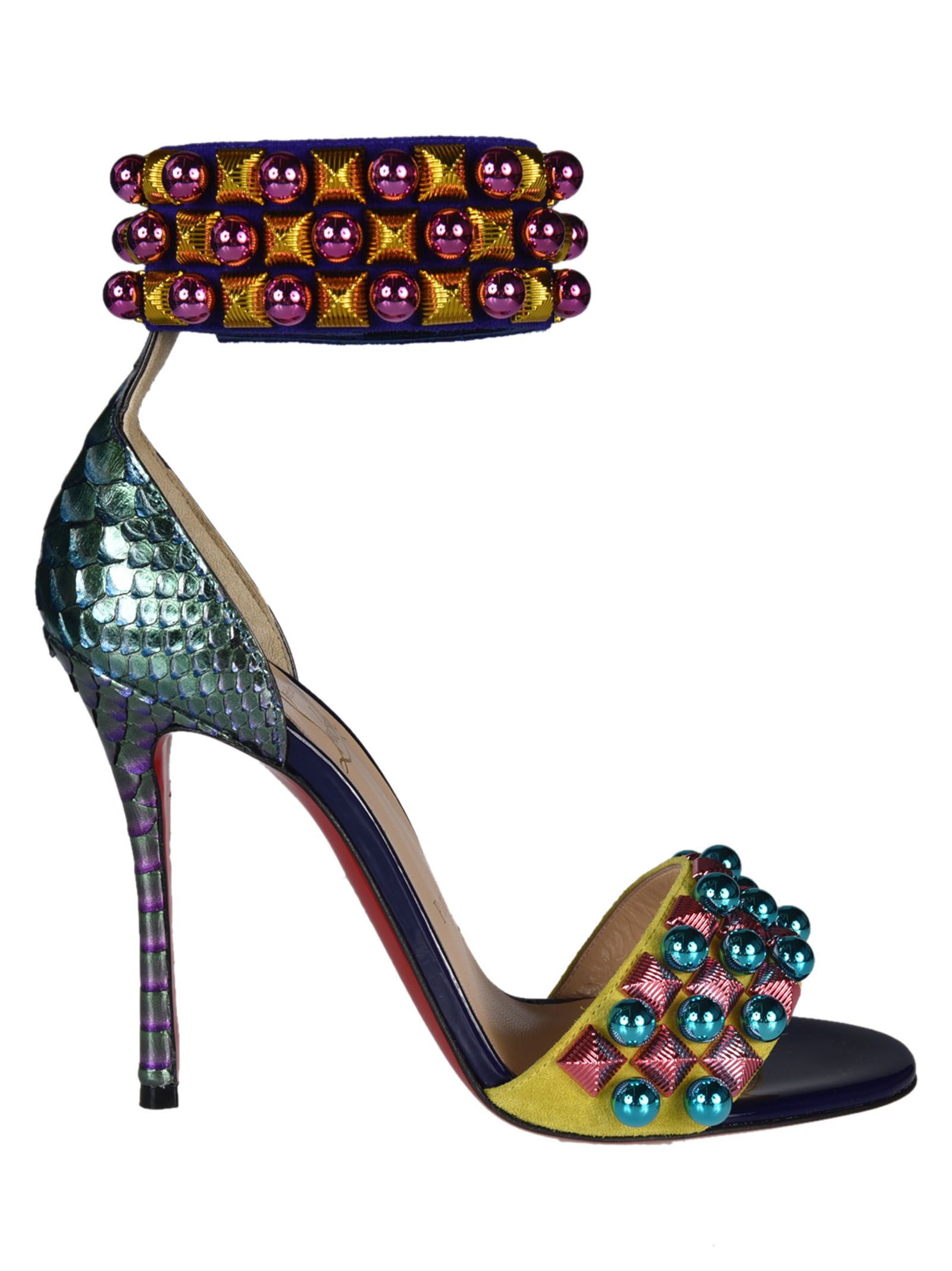 christian louboutin female christian louboutin tudor studded sandals