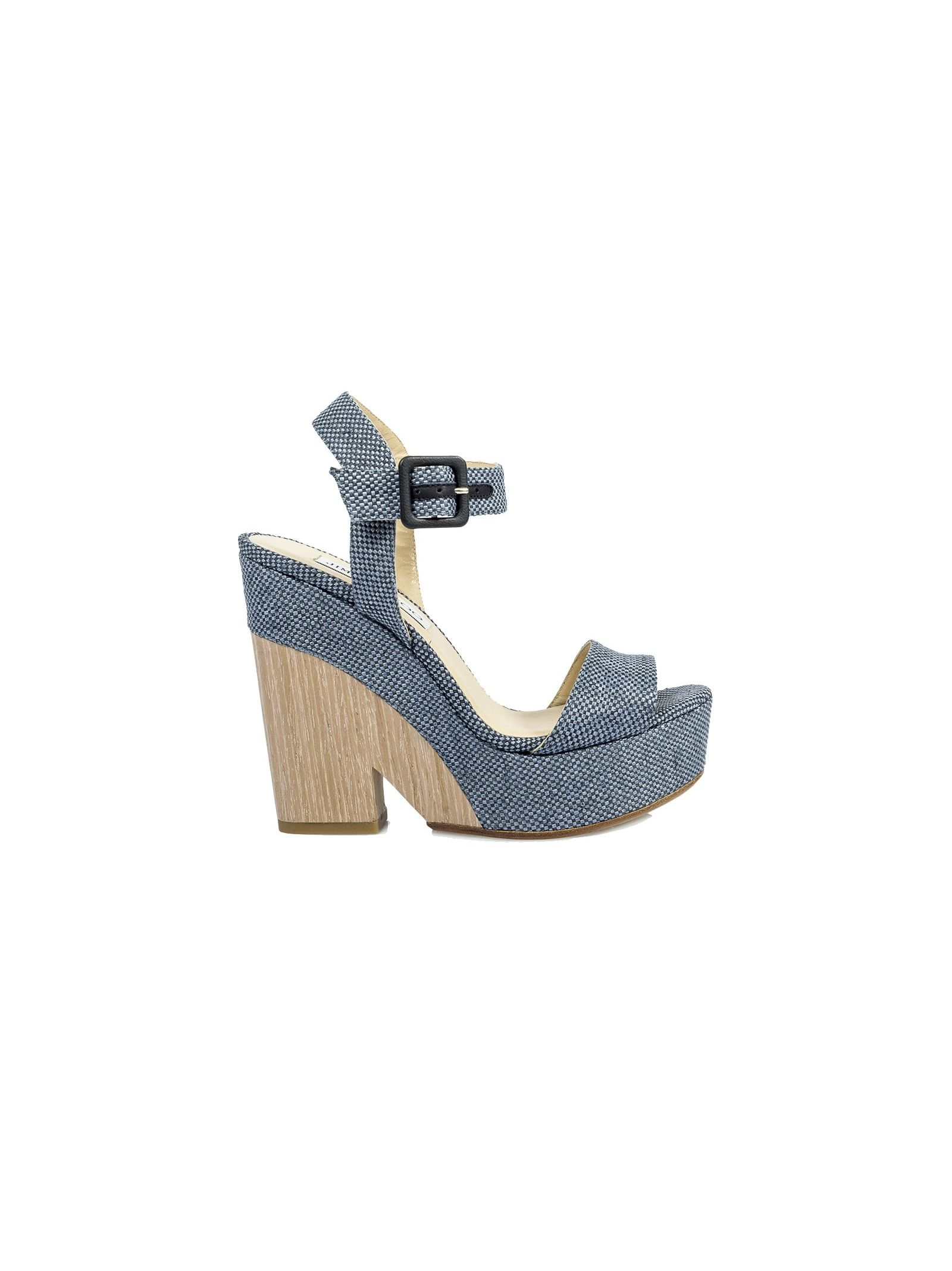 jimmy choo female 201920 denim raffia wedge sandals
