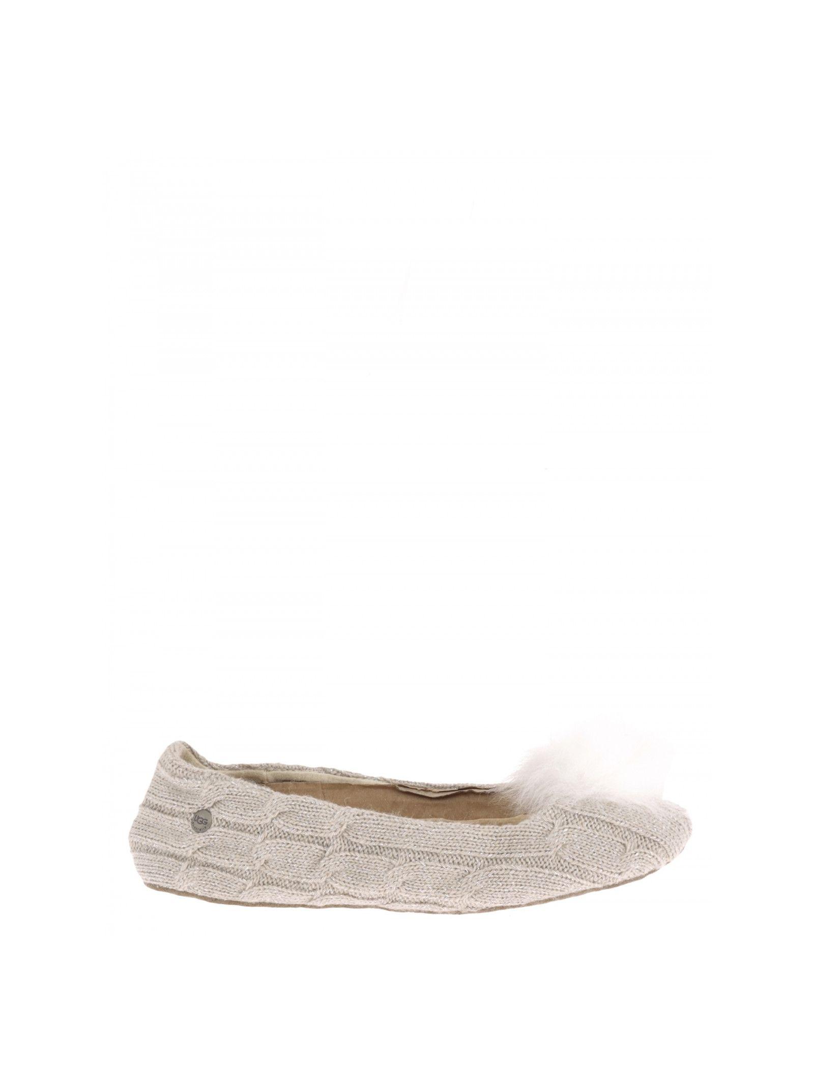 f25634e352bf UGG Wool Ballet Flats - BEIGE ...